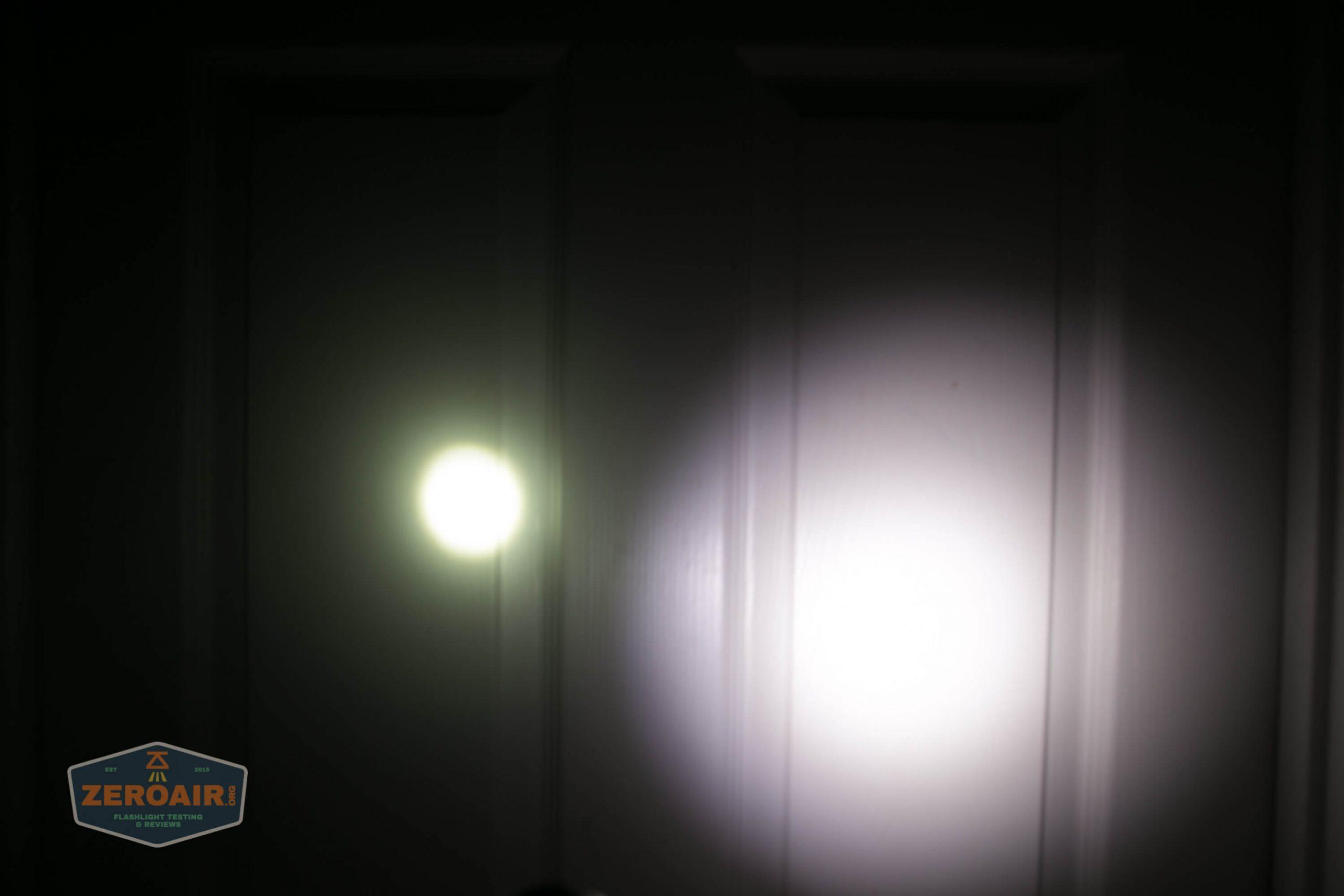 acebeam l17 osram white 18650 thrower door beamshot beside blf-348