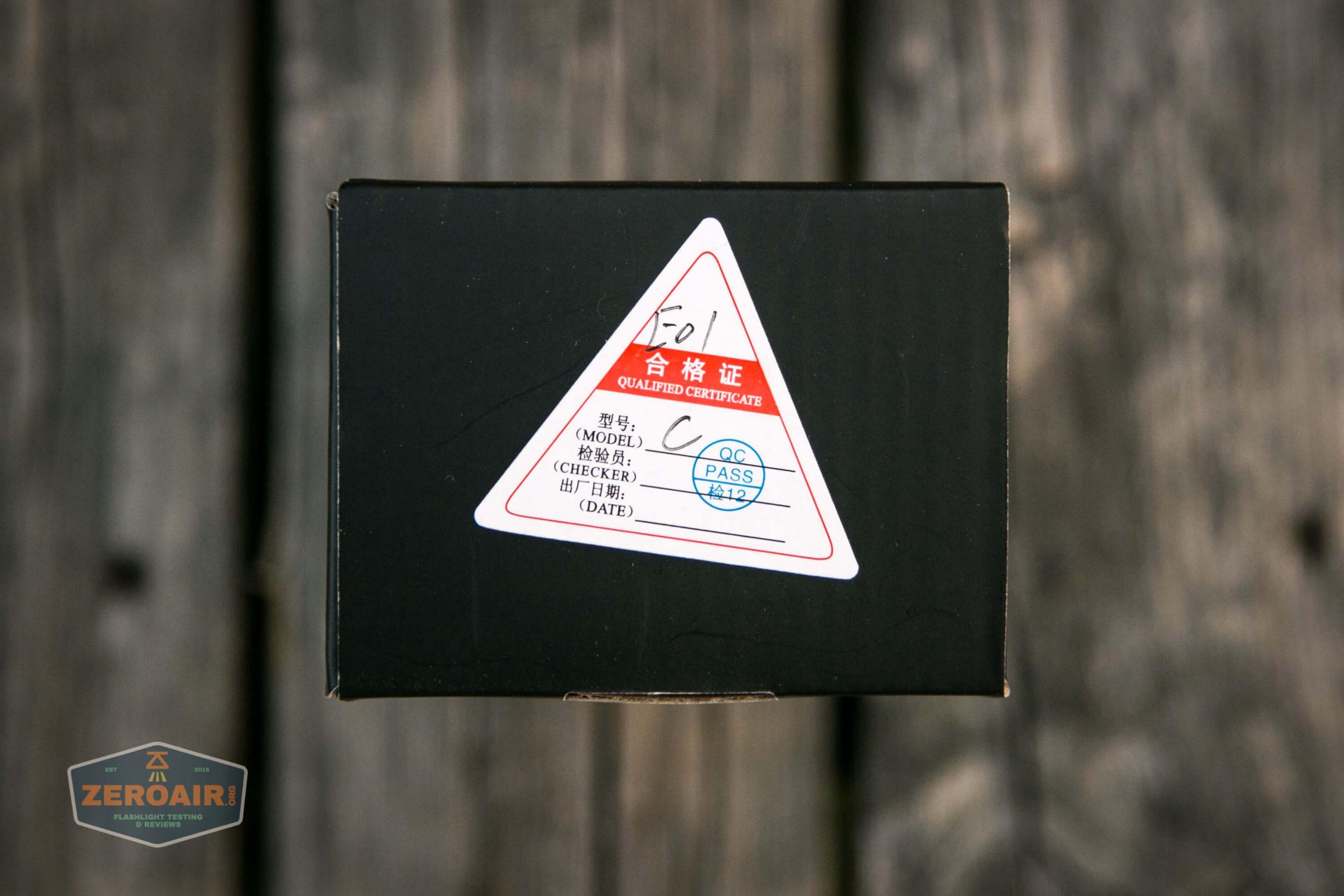 fireflylite e01 luminus sst-40 21700 box top