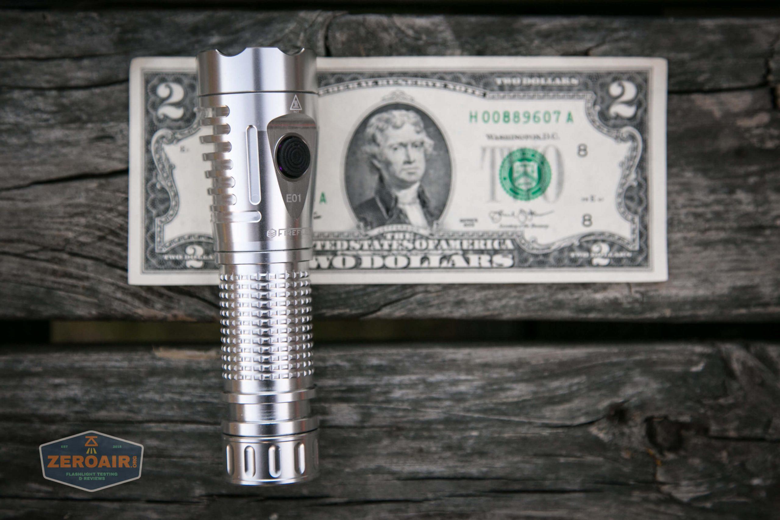 fireflylite e01 luminus sst-40 21700 size on two dollar bill 2