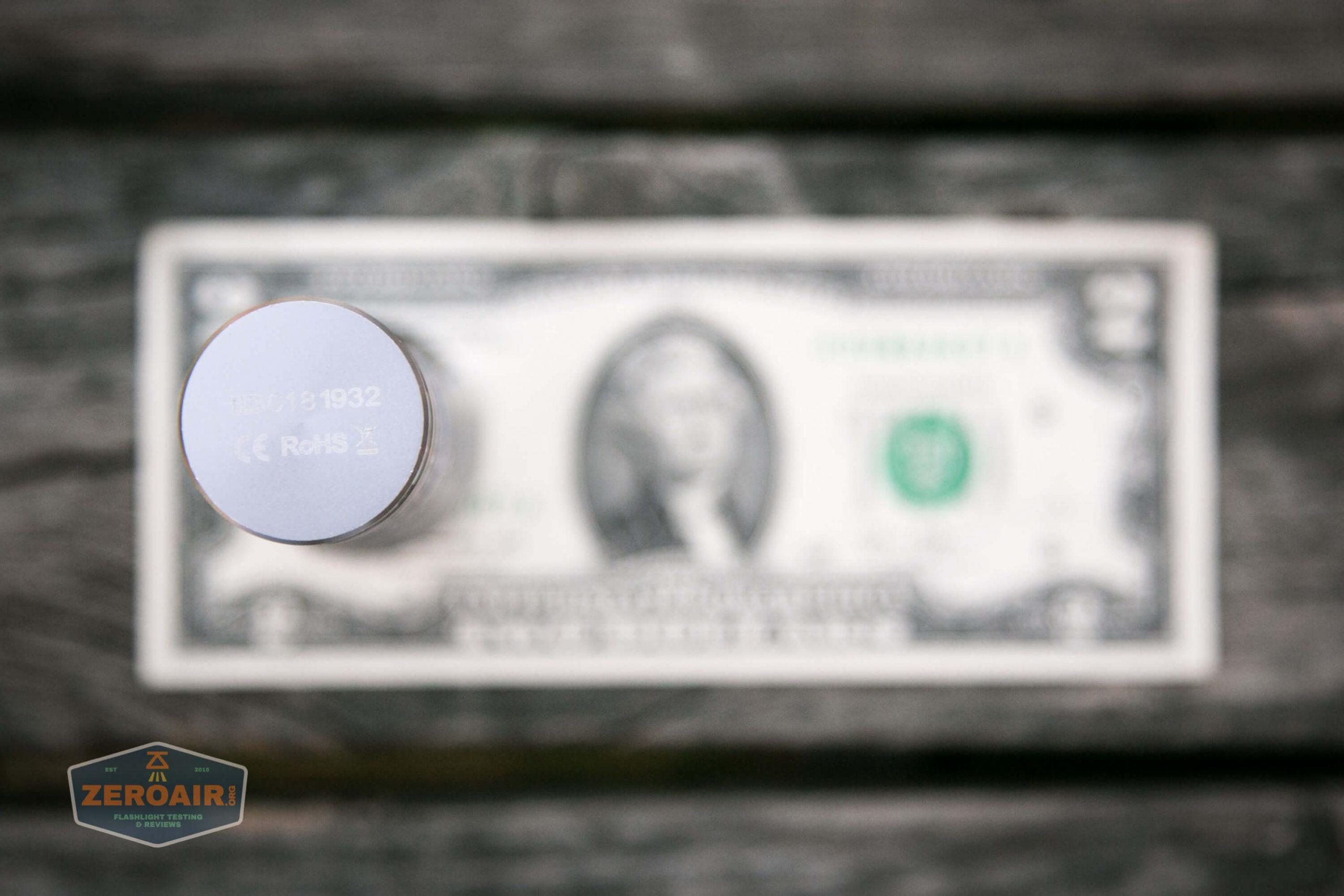 fireflylite e01 luminus sst-40 21700 size on two dollar bill 3