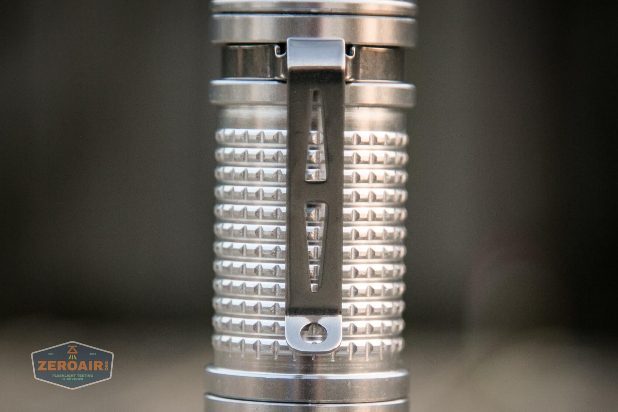 fireflylite e01 luminus sst-40 21700 pocket clip lanyard slots