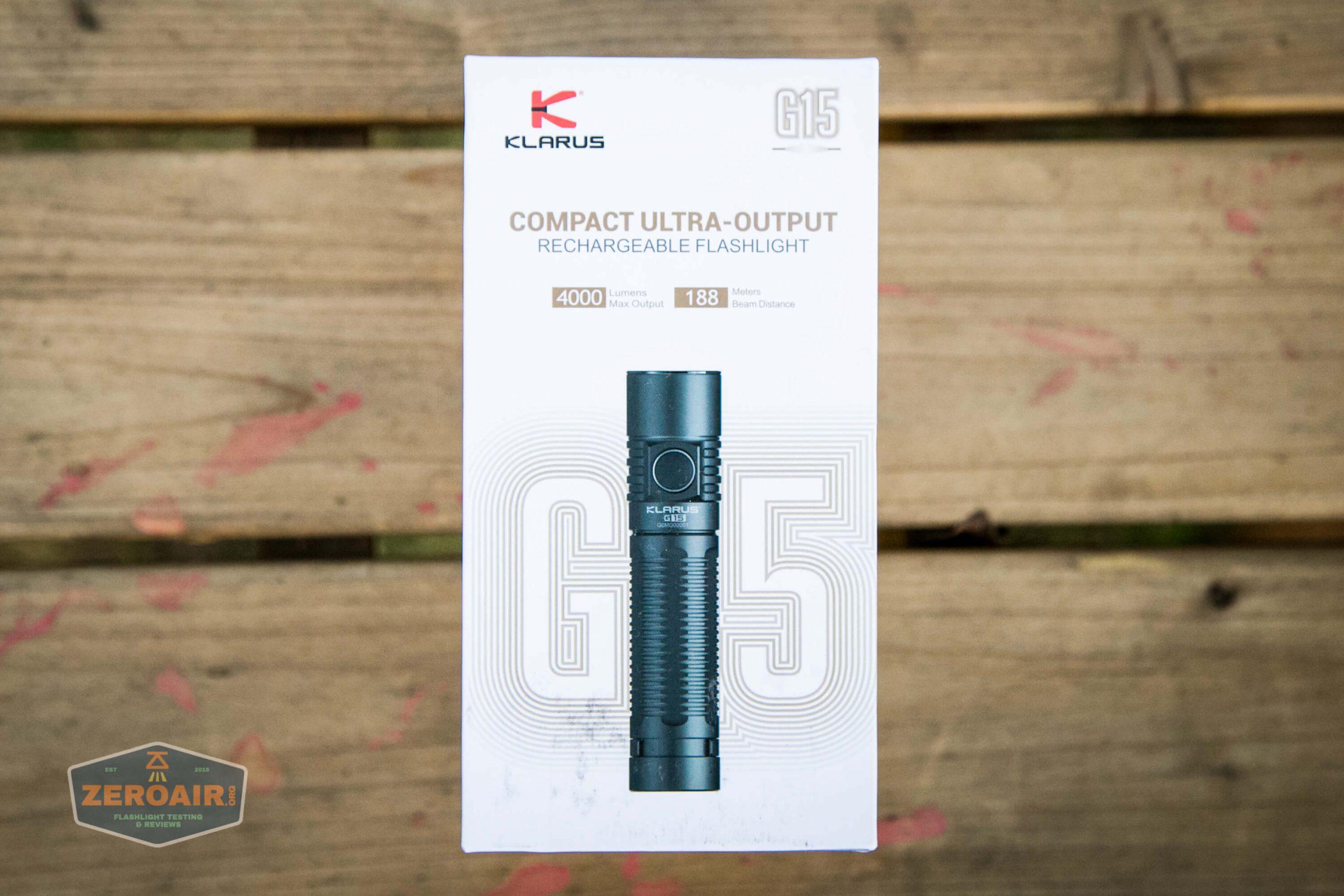klarus g25 21700 cree xhp70.2 flashlight box front