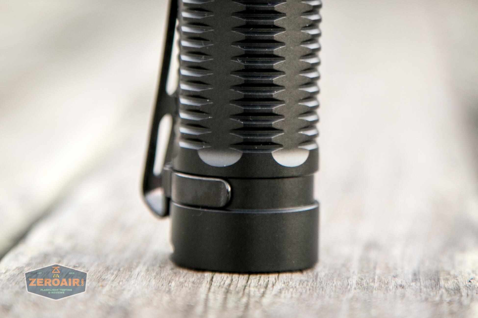klarus g25 21700 cree xhp70.2 flashlight body and tail