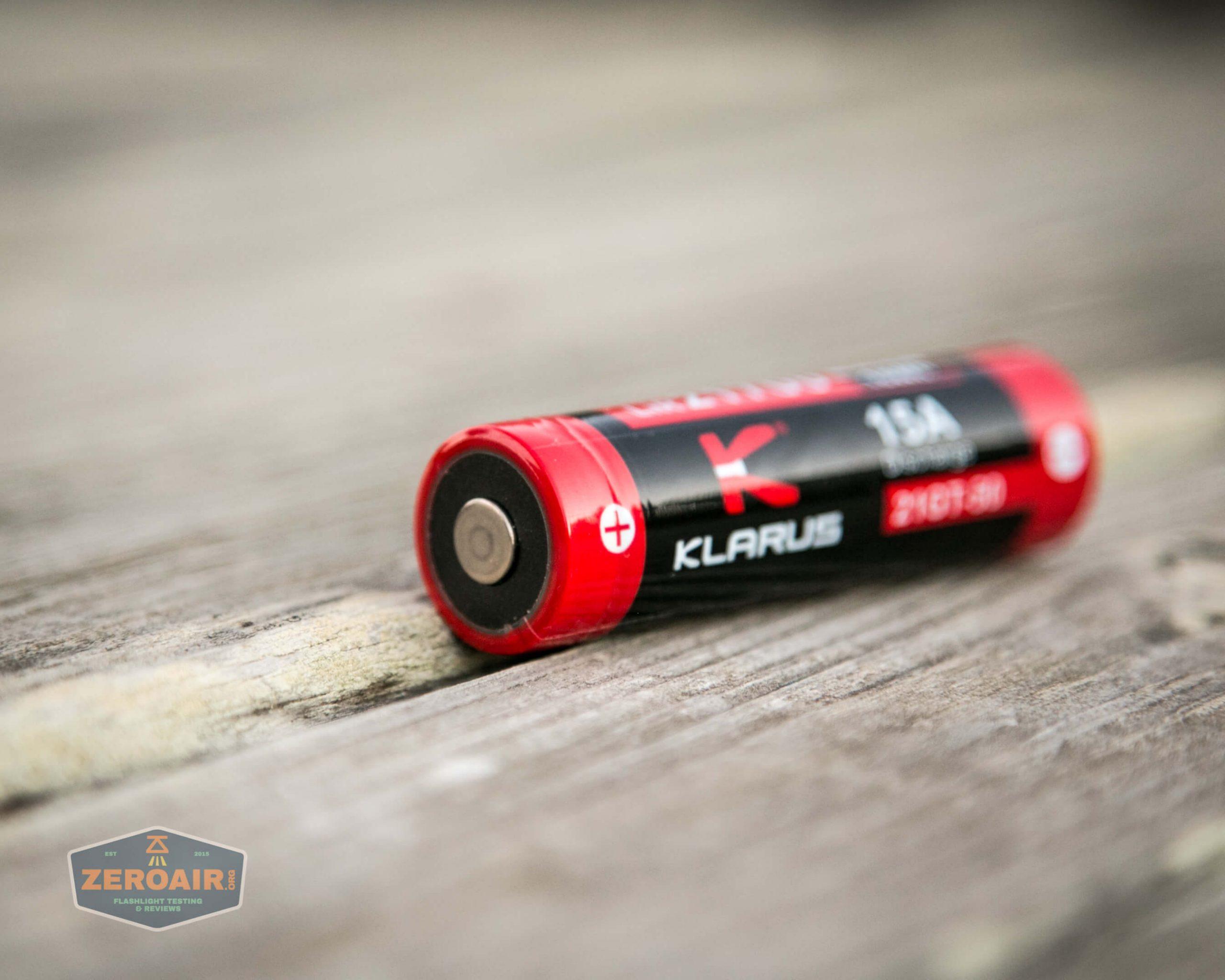 klarus g25 21700 cree xhp70.2 flashlight cell positive button