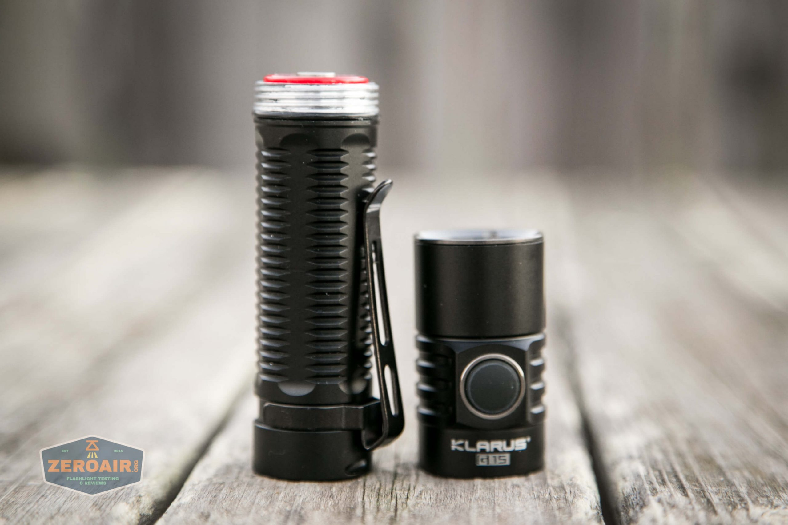 klarus g25 21700 cree xhp70.2 flashlight with cell installed