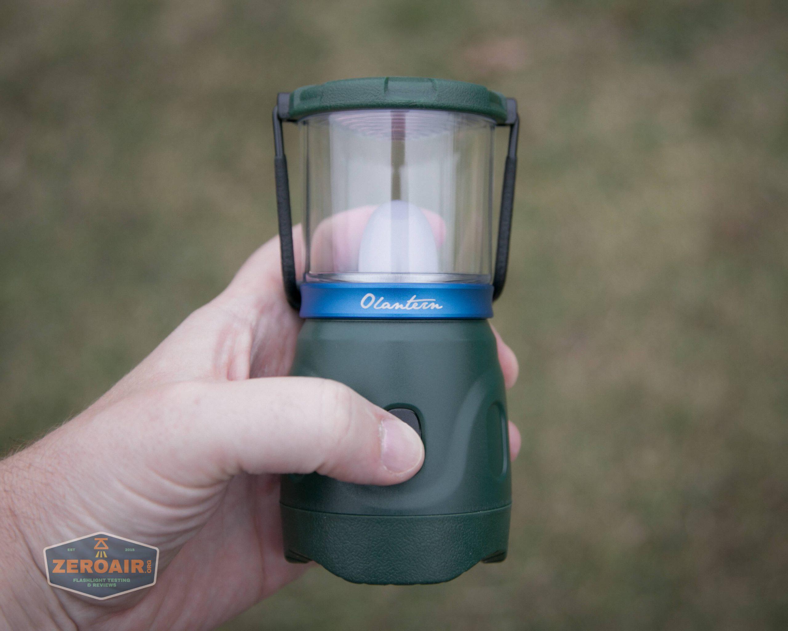 olight olantern lantern thumb on switch