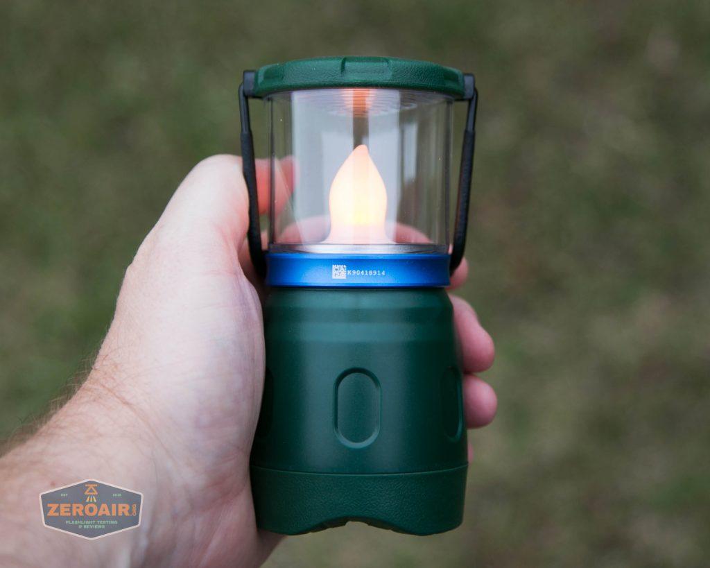 olight olantern lantern flame lamp on in hand
