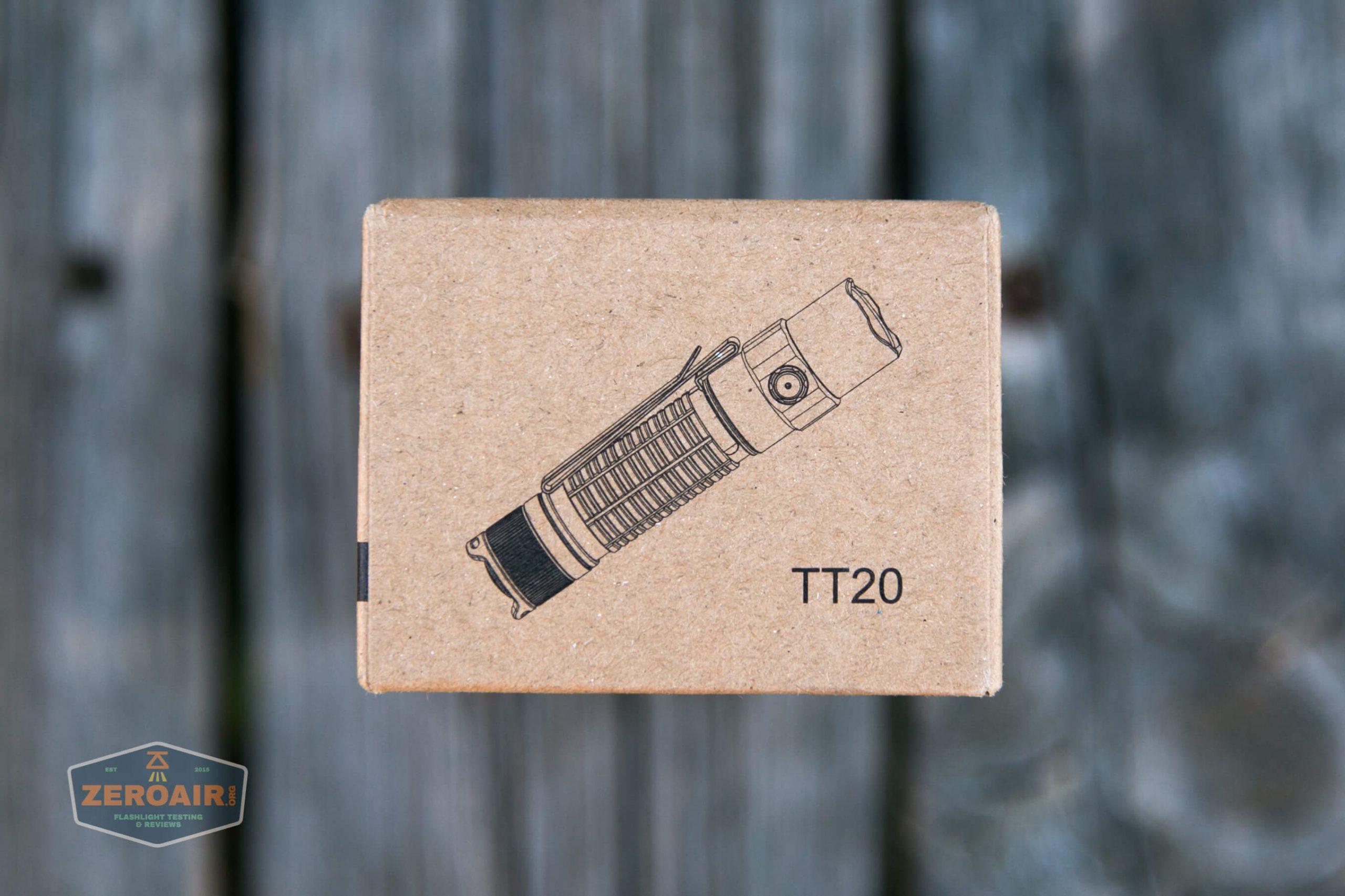 thrunite tt20 the outsider red 21700 flashlight box