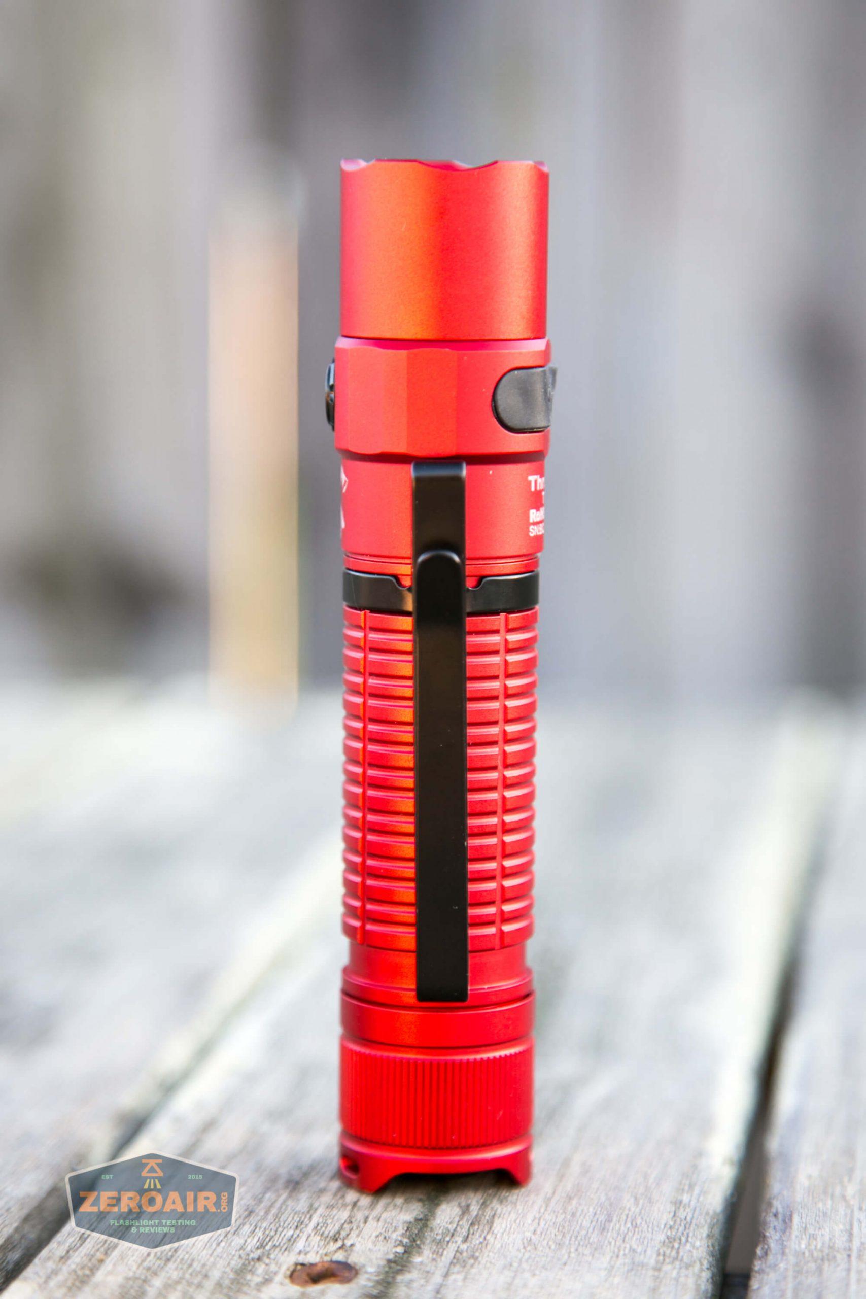 thrunite tt20 the outsider red 21700 flashlight standing