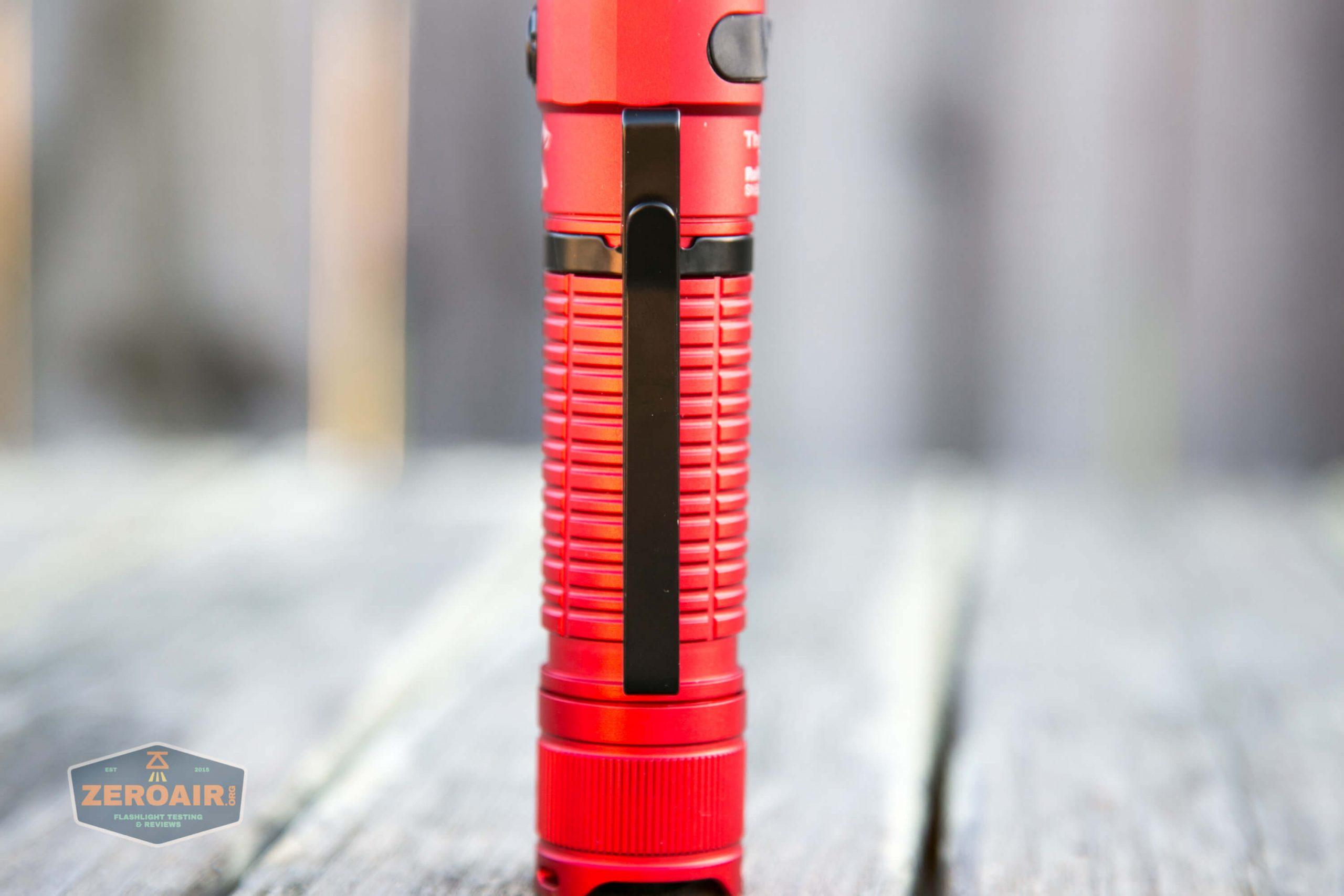 thrunite tt20 the outsider red 21700 flashlight pocket clip