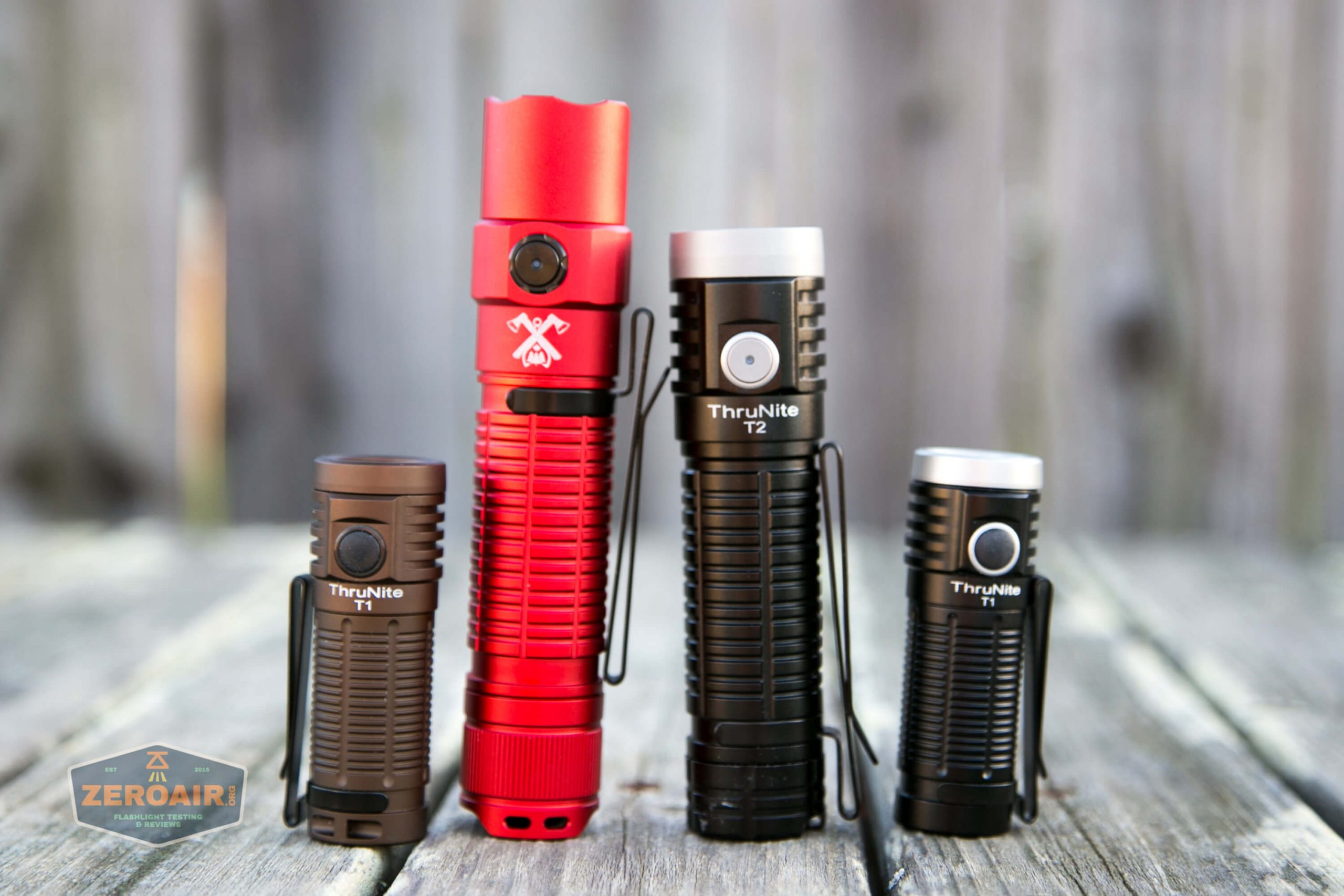 thrunite tt20 the outsider red 21700 flashlight with other thrunites (t2, t1)