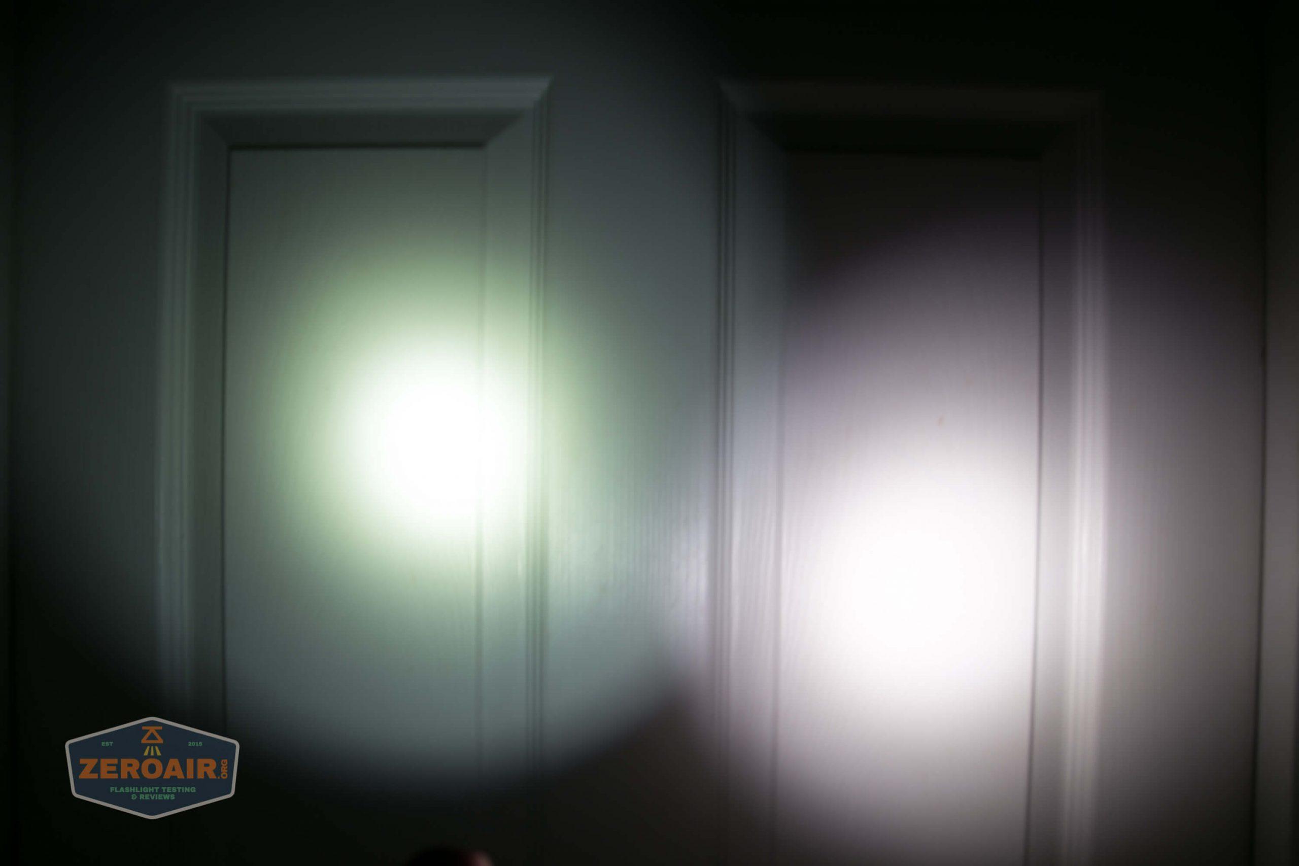 thrunite tt20 the outsider red 21700 flashlight beamshots door 2