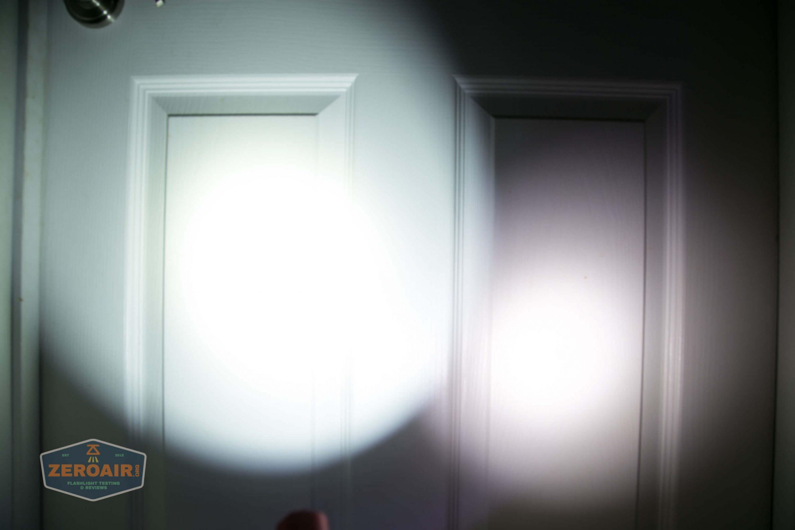 thrunite tt20 the outsider red 21700 flashlight beamshots door 4