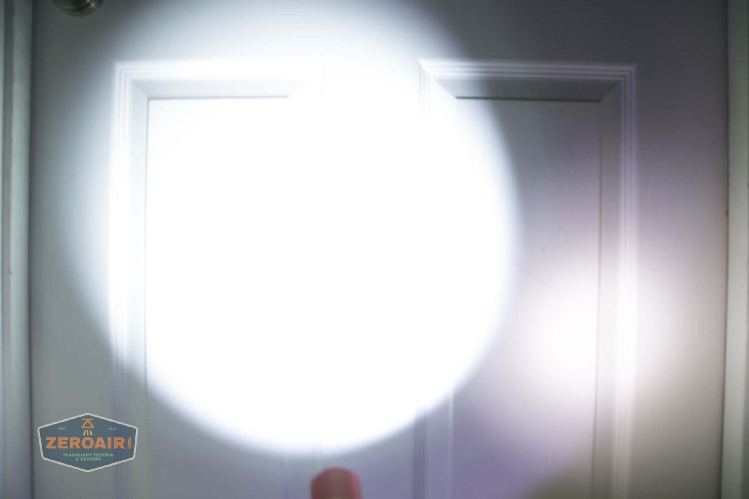 thrunite tt20 the outsider red 21700 flashlight beamshots door 6