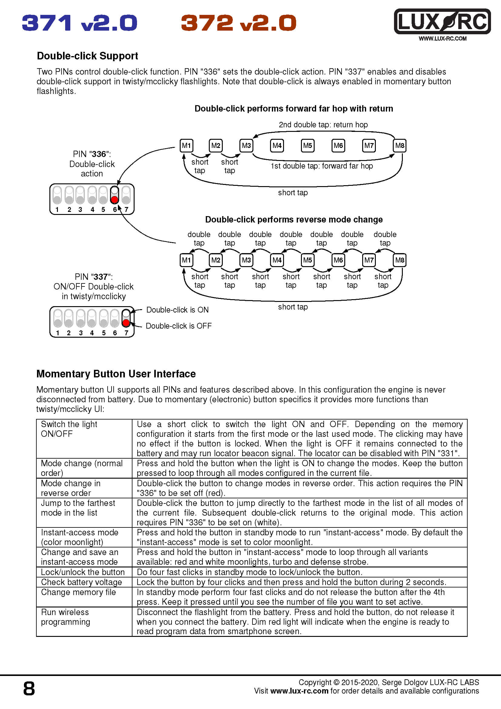 lux-rc 371d v2.0 manual in image format page 8