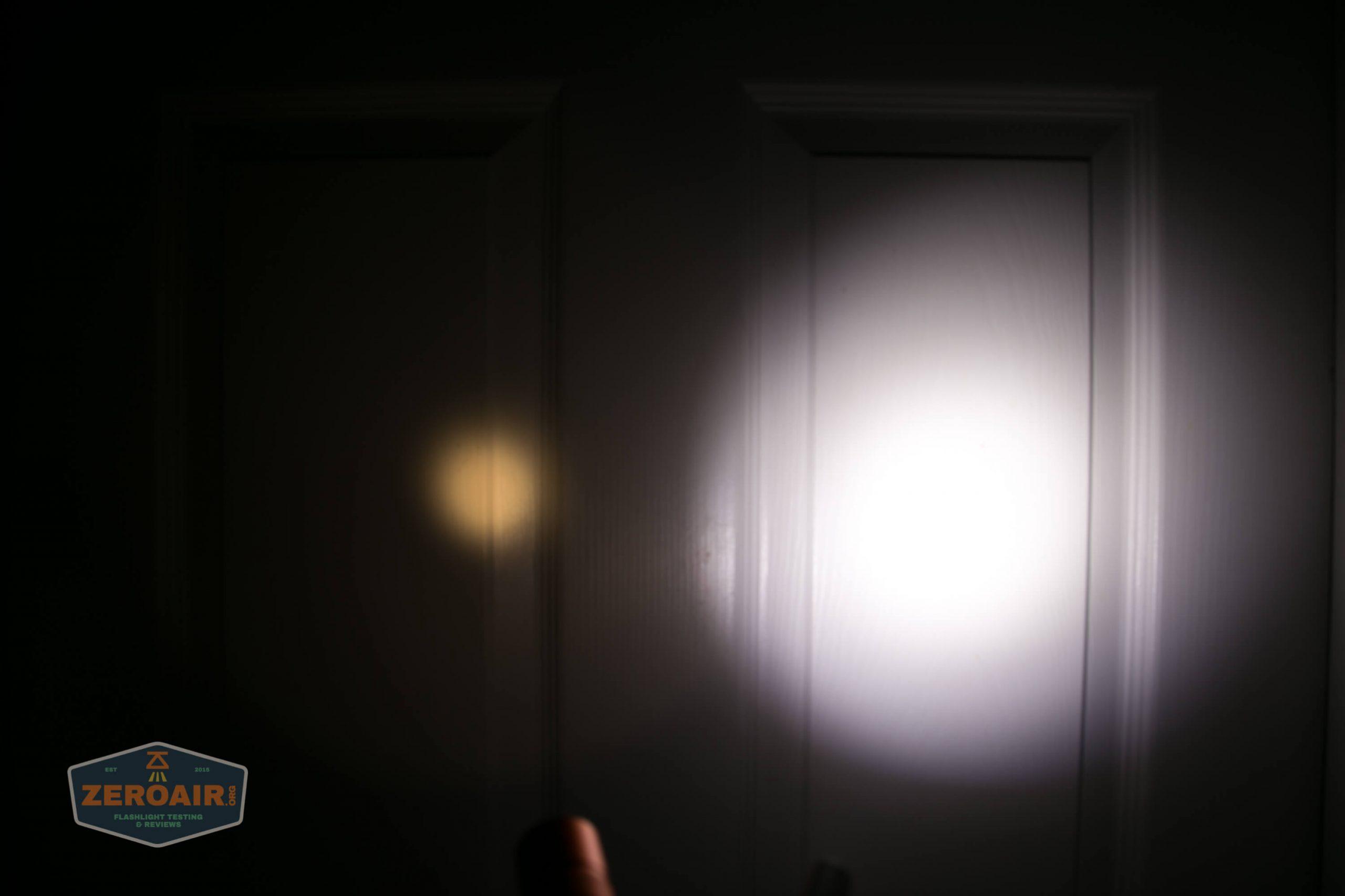 convoy s2+ sst20 2700K 6x7135 orange peel reflector beamshots door
