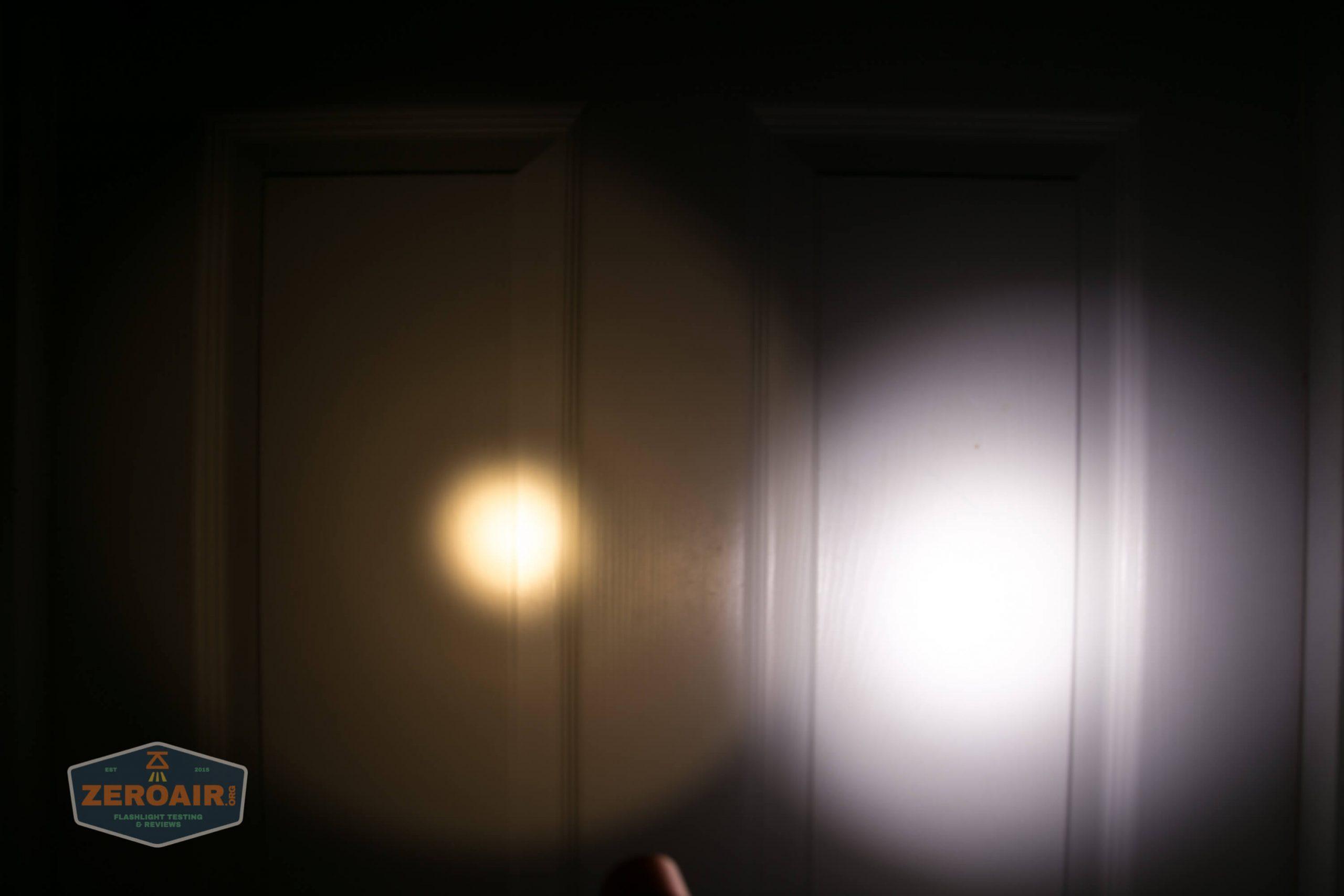 convoy s2+ sst20 2700K 6x7135 smooth reflector beamshots door