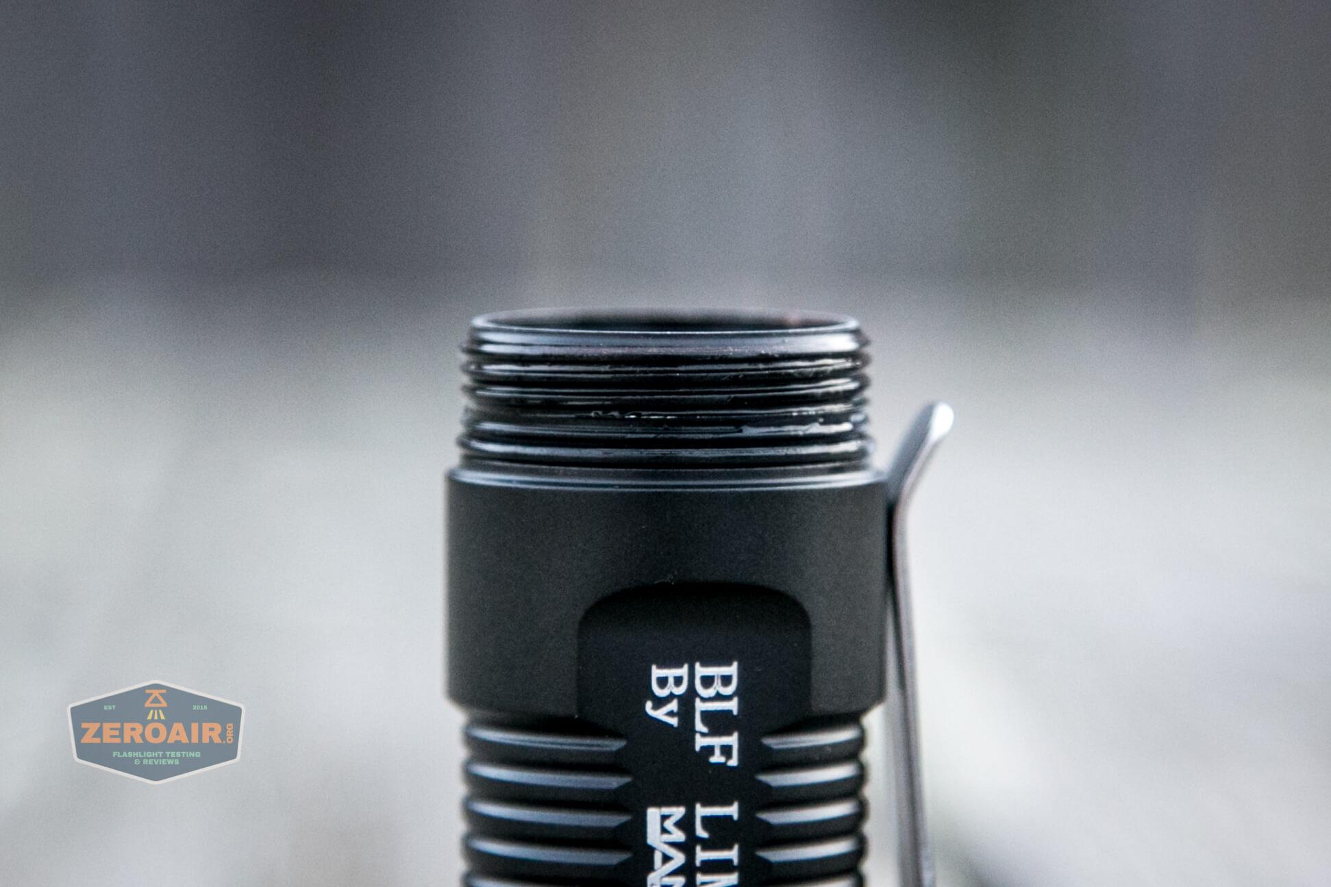 manker e14iii 18350 flood flashlight threads