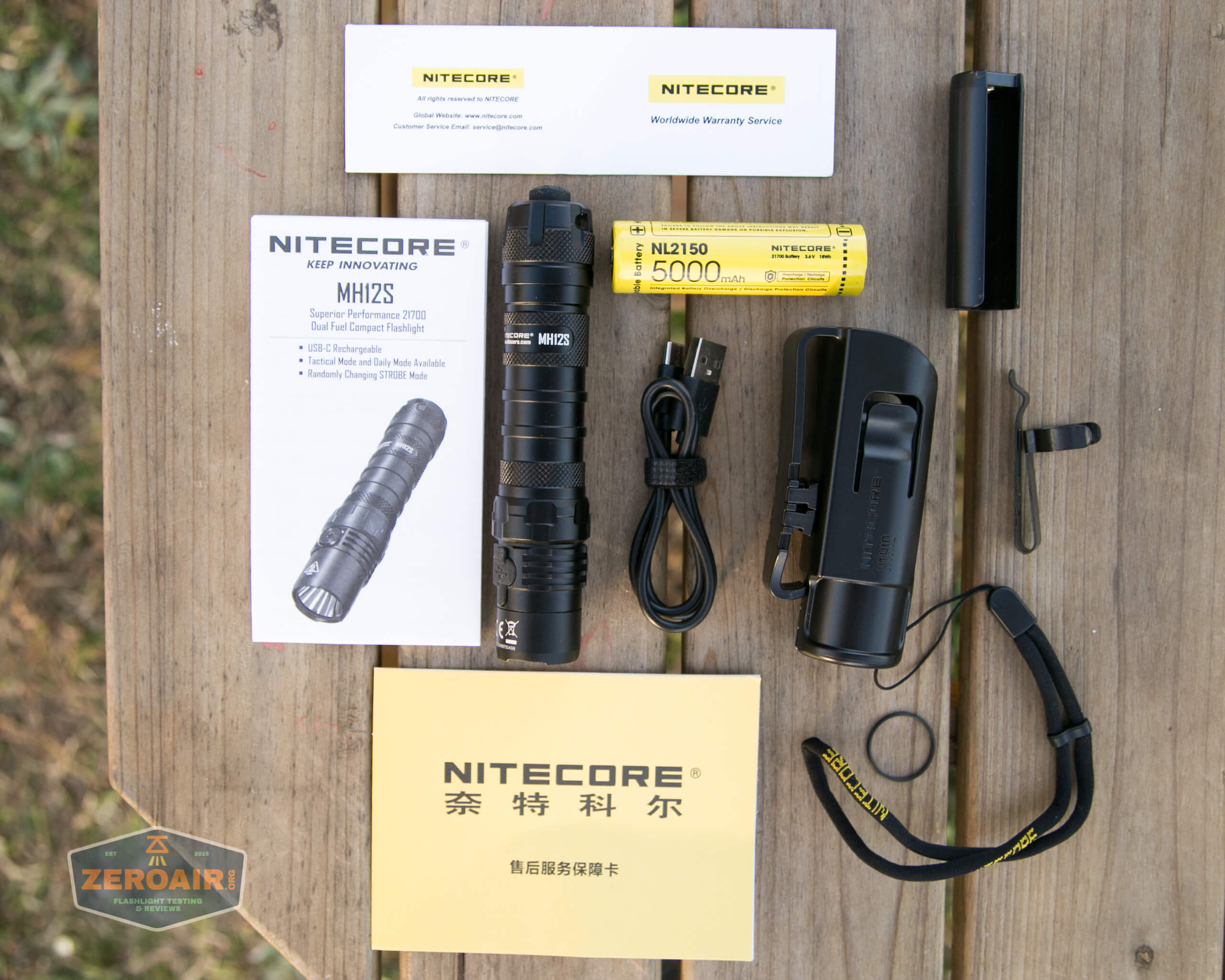 nitecore mh12s tactical flashlights what's included