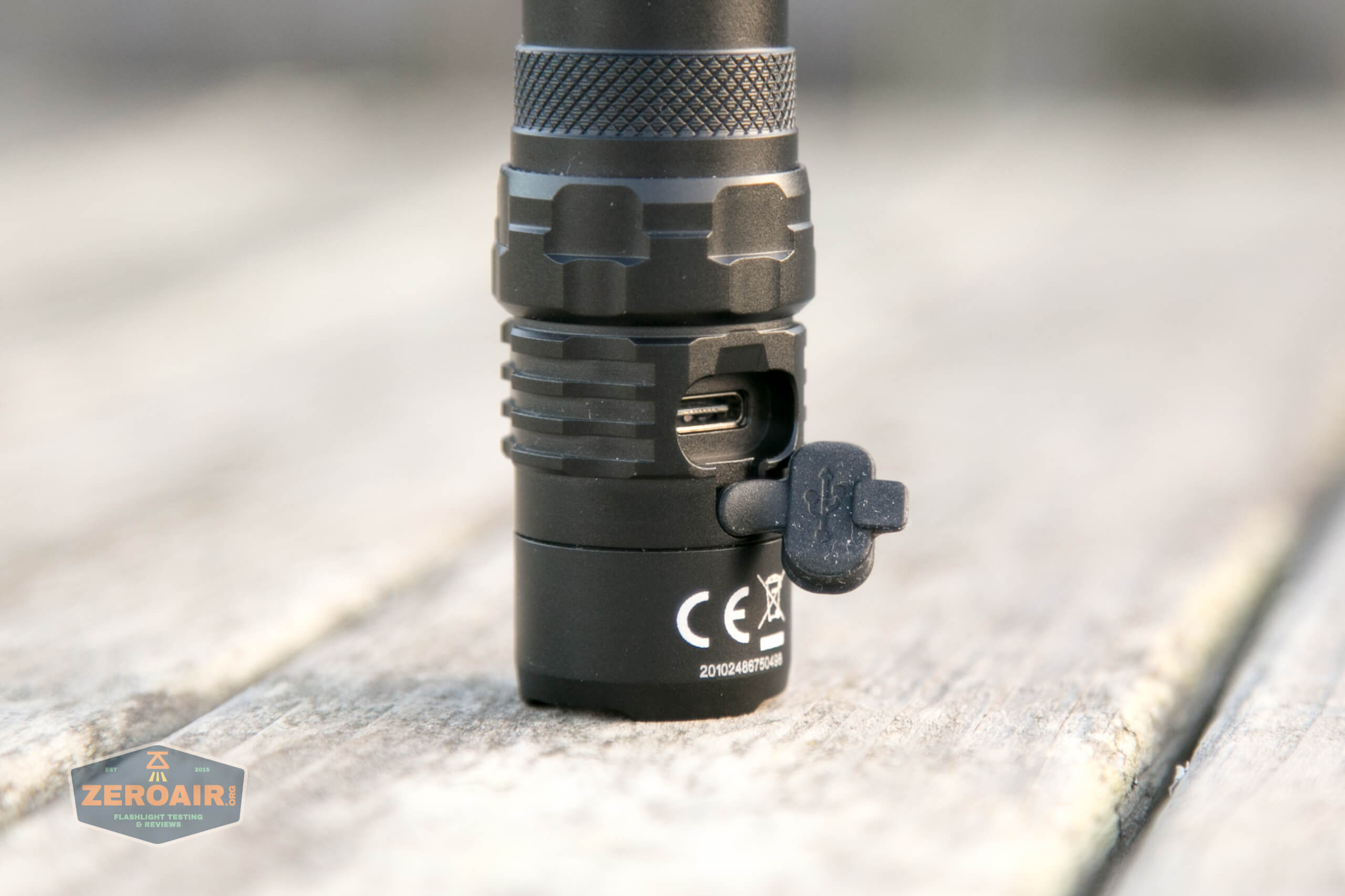 nitecore mh12s tactical flashlight charge port open