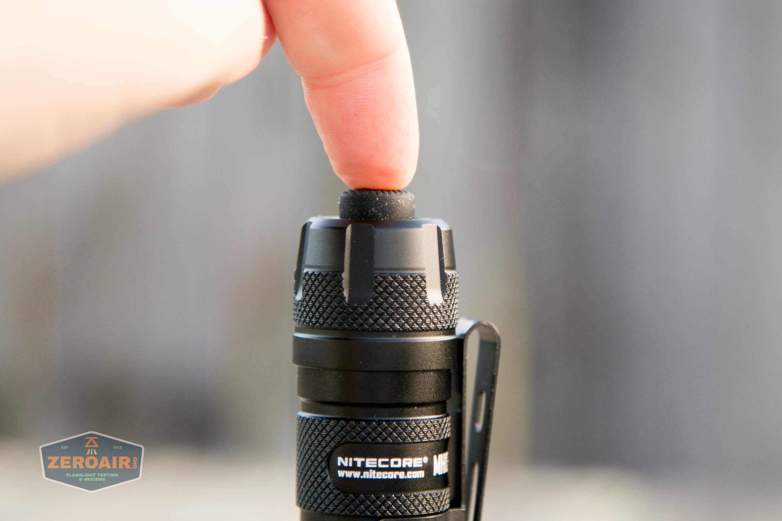 nitecore mh12s tactical flashlight tail switch