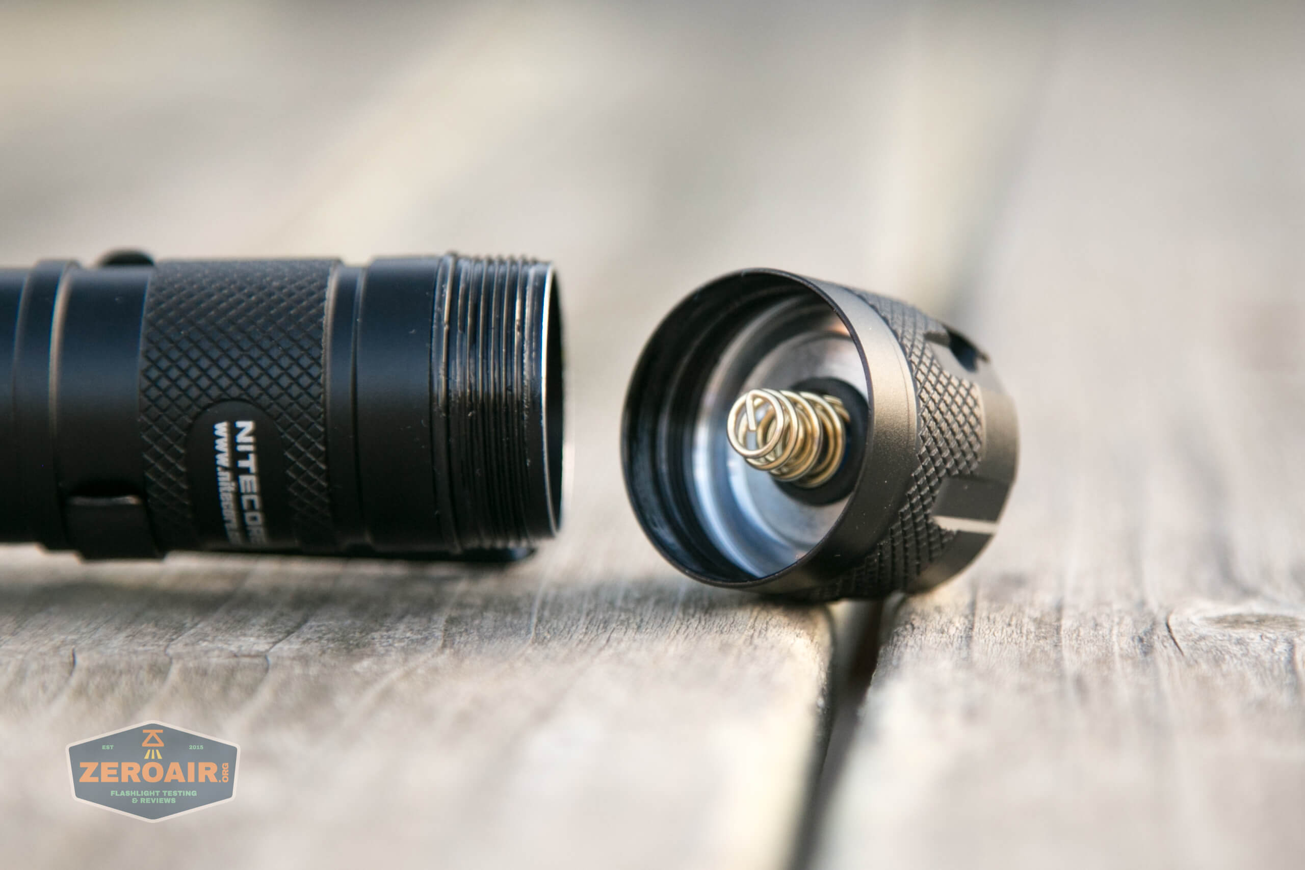 nitecore mh12s tactical flashlight tailcap spring