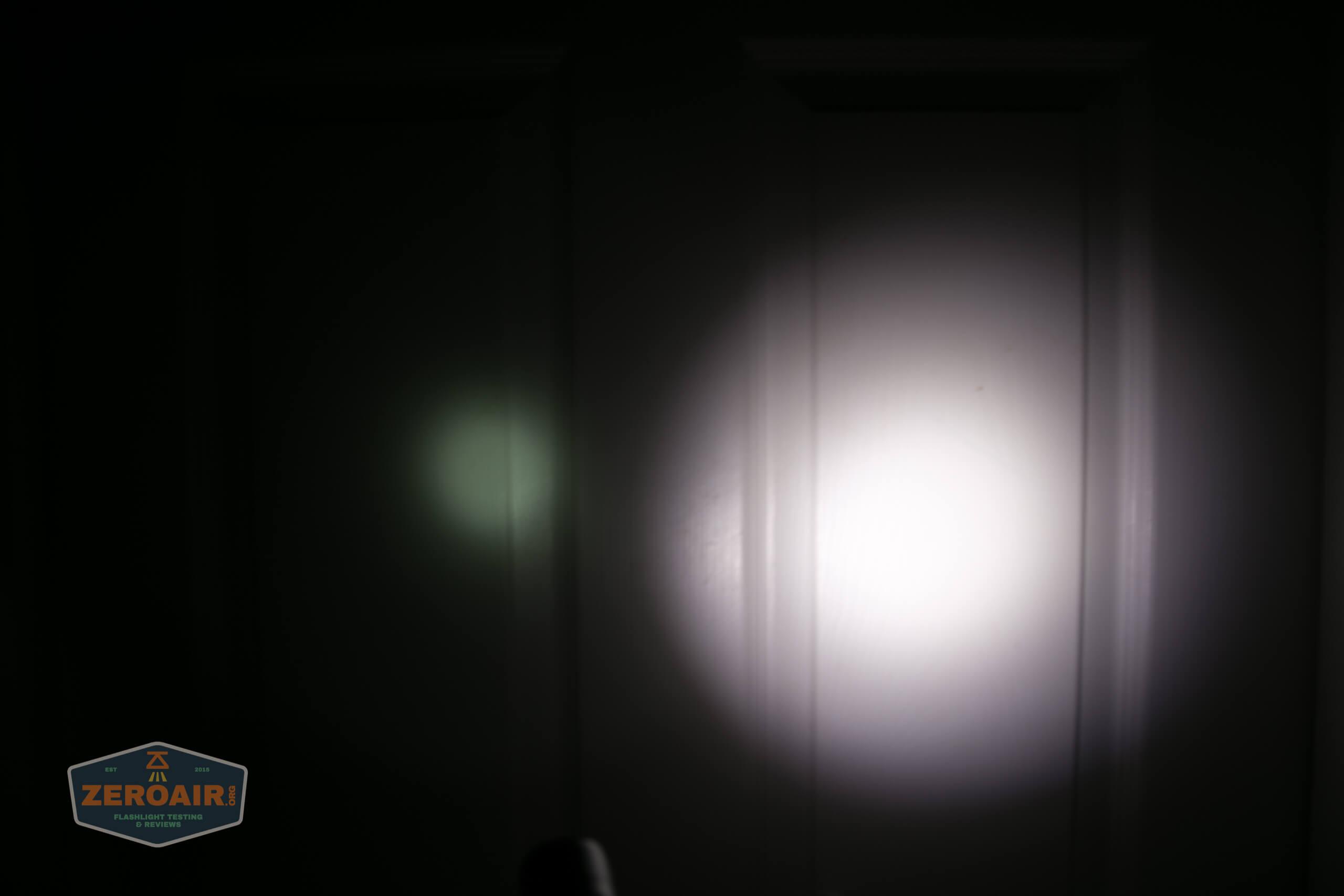 nitecore mh12s tactical flashlight beamshot door 1