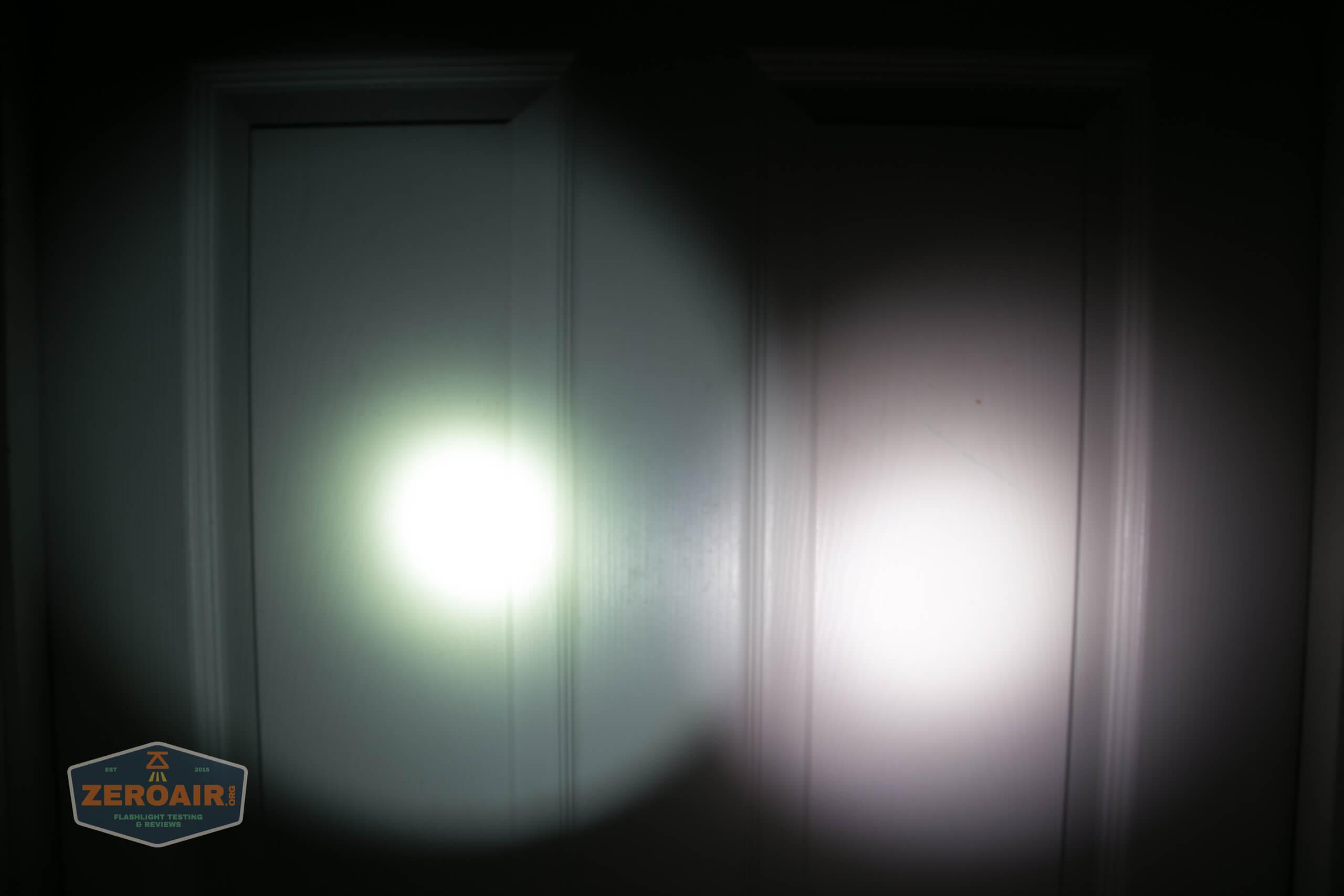 nitecore mh12s tactical flashlight beamshot door 2