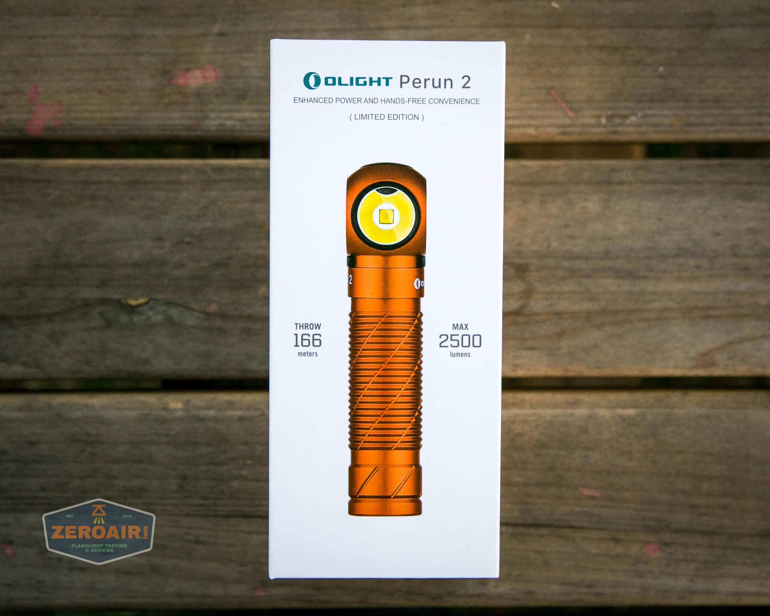 olight perun 2 21700 headlamp orange box