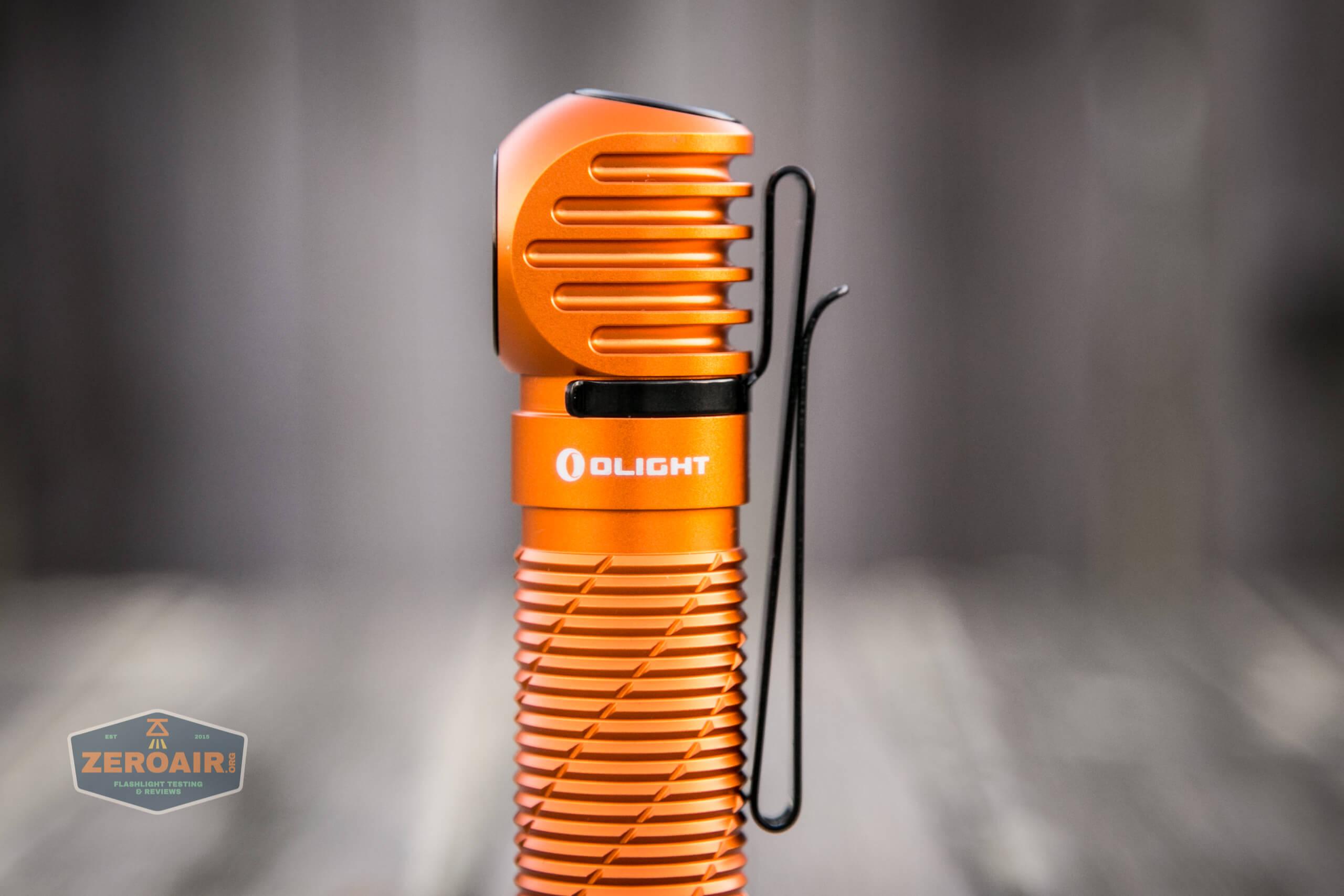 olight perun 2 21700 headlamp orange body detail