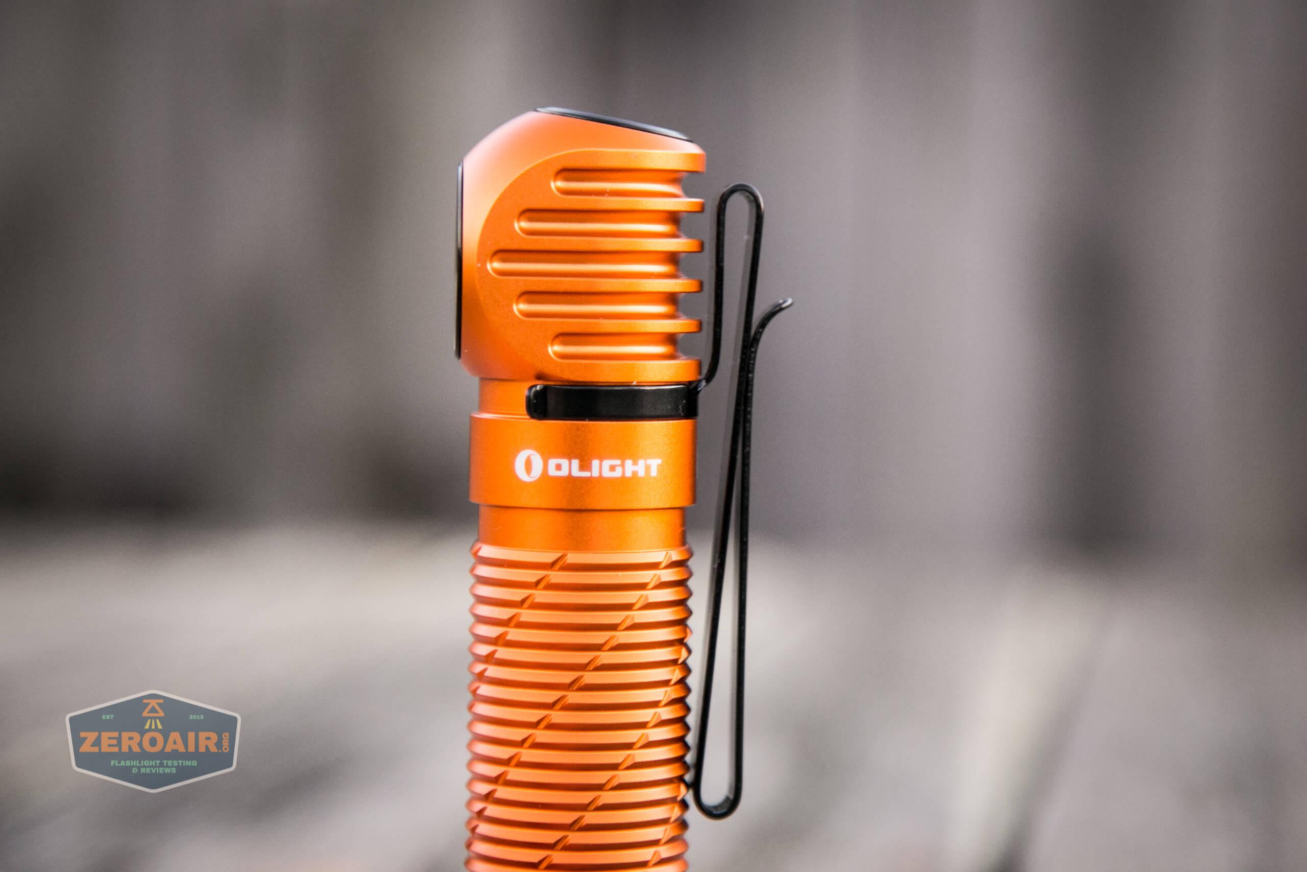 olight perun 2 21700 headlamp orange pocket clip