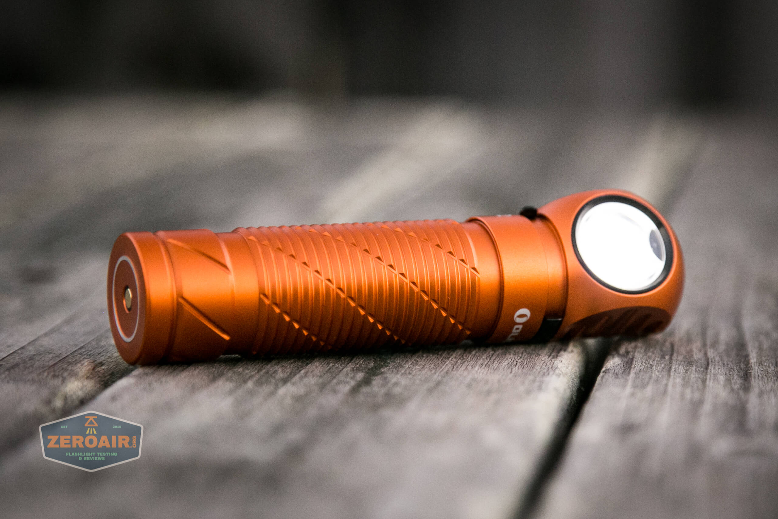 olight perun 2 21700 headlamp orange on low