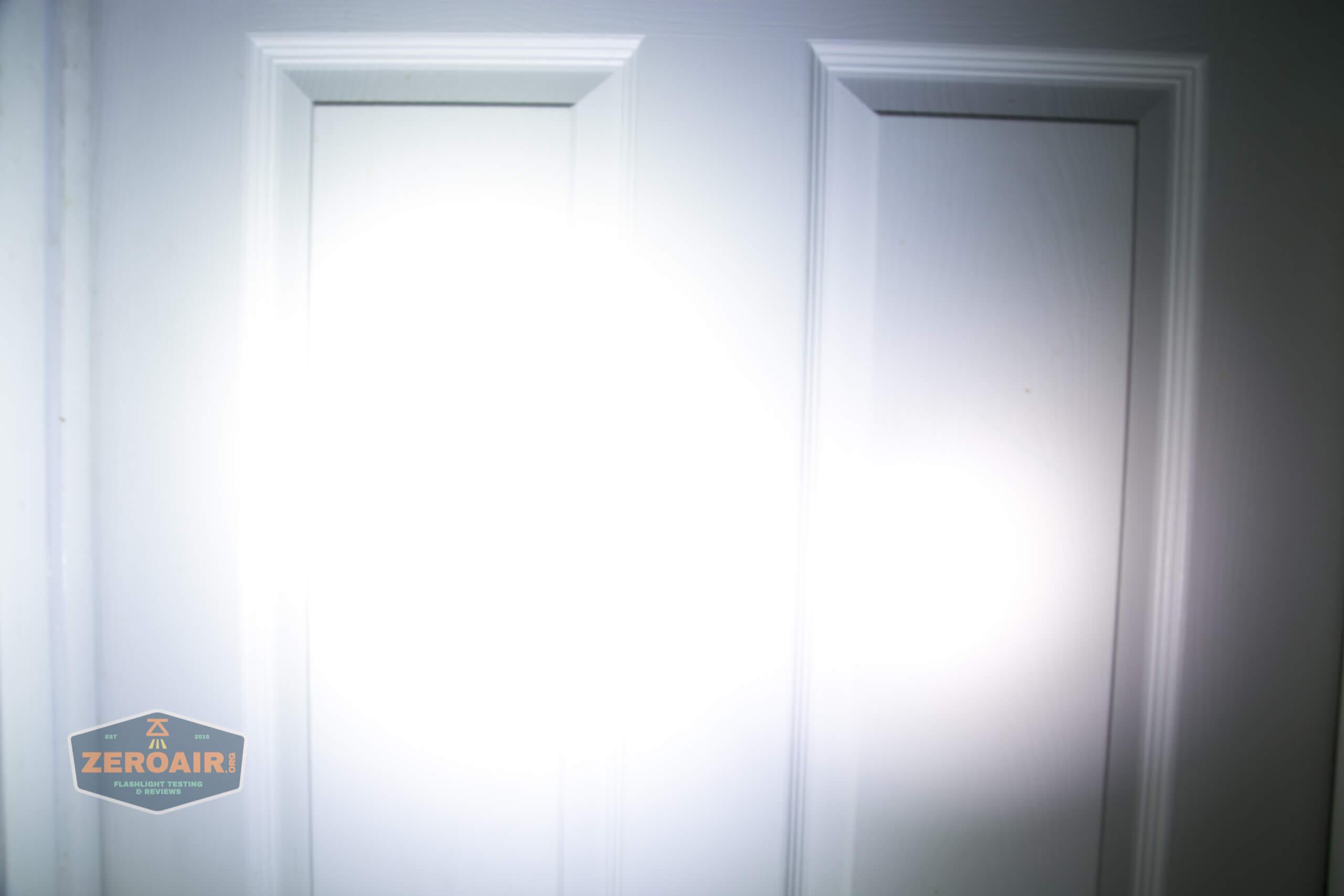 olight perun 2 21700 headlamp orange beamshot door 4