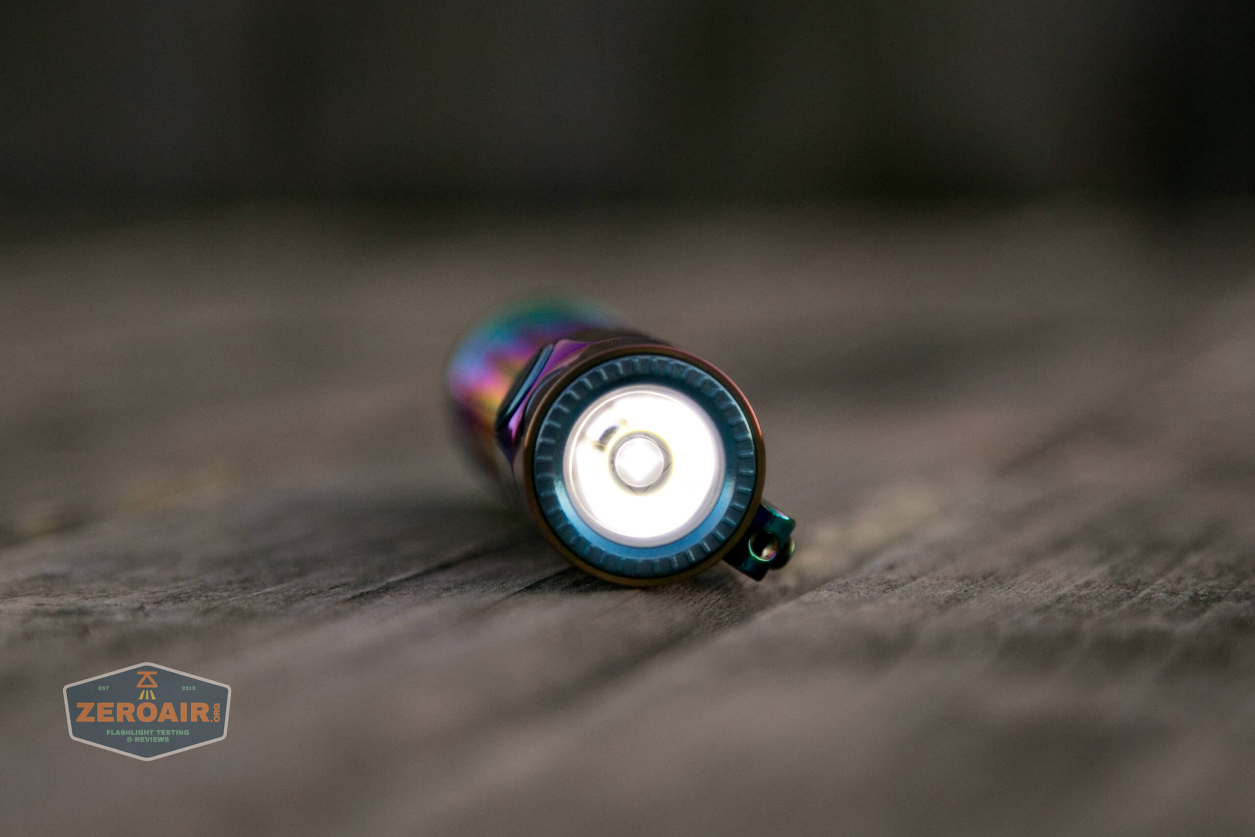 olight warrior mini rainbow spring 2 led flashlight on low