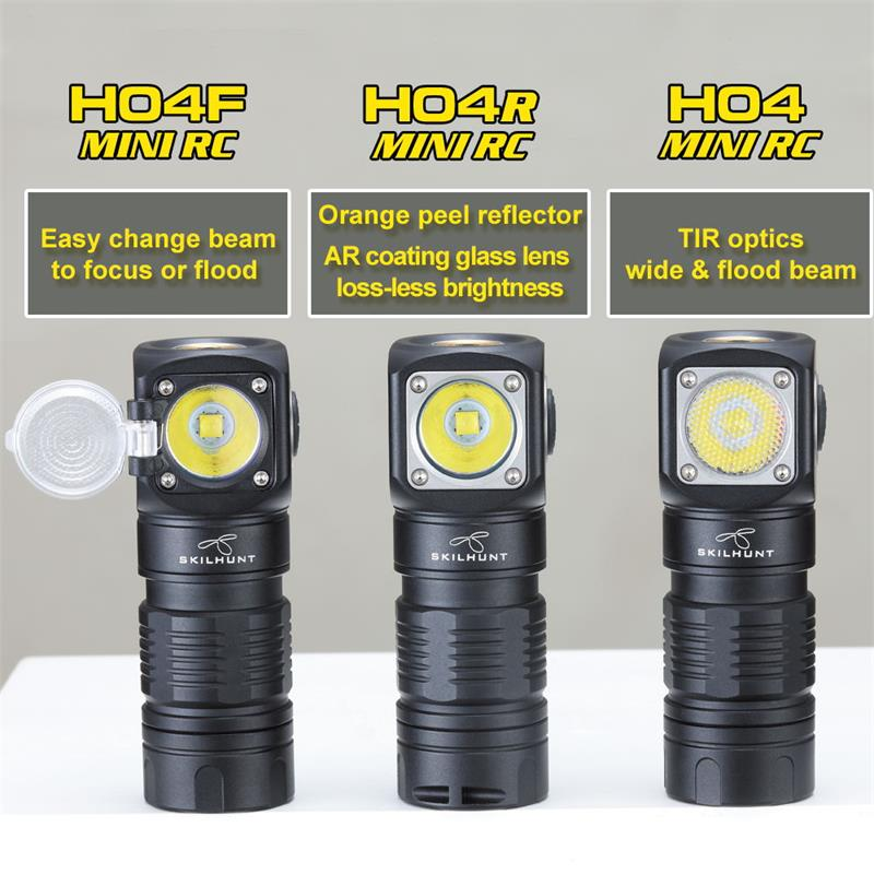 skilhunt H04 Mini RC 18350 headlamp variations