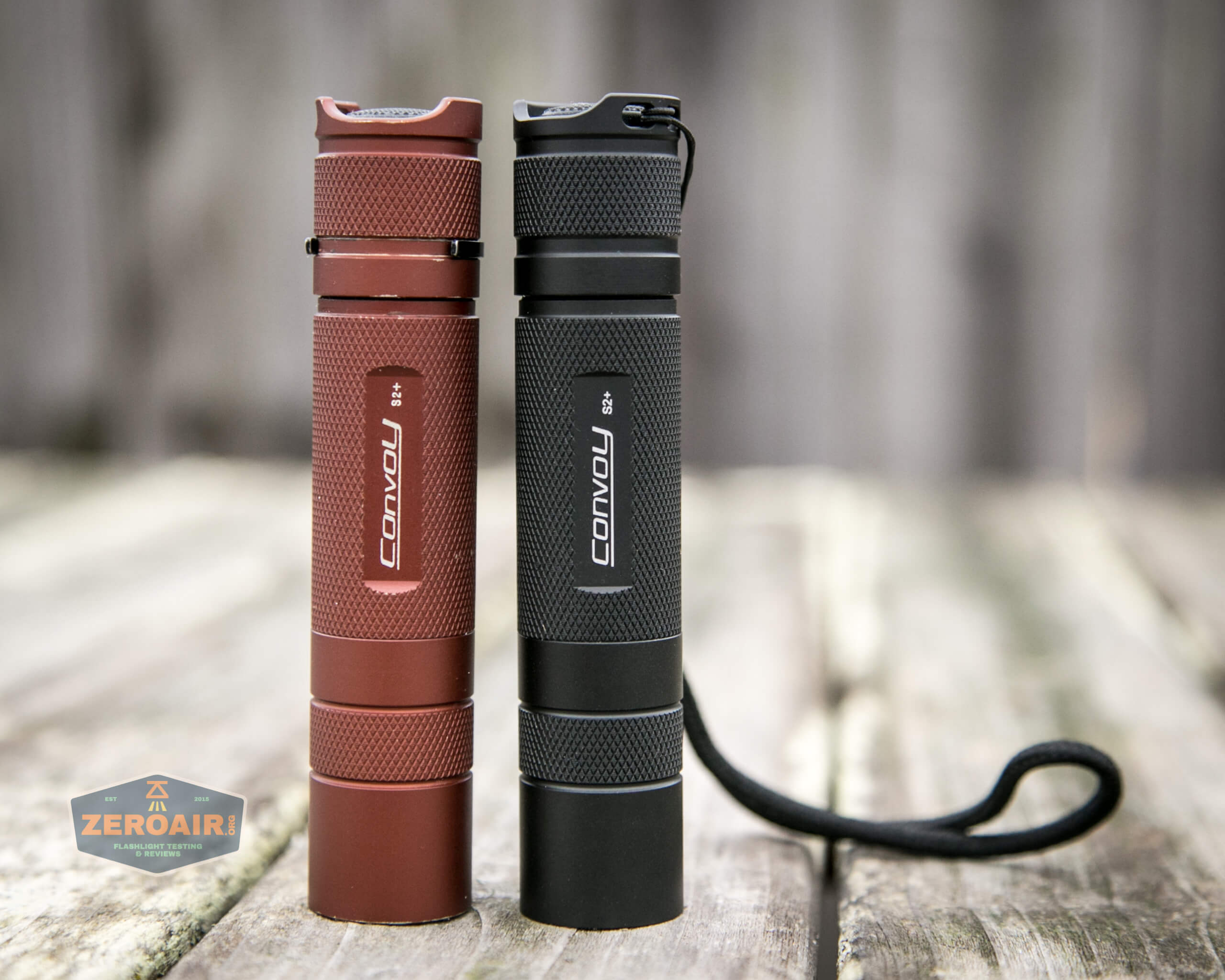 convoy s2+ uv flashlight beside convoy s2+