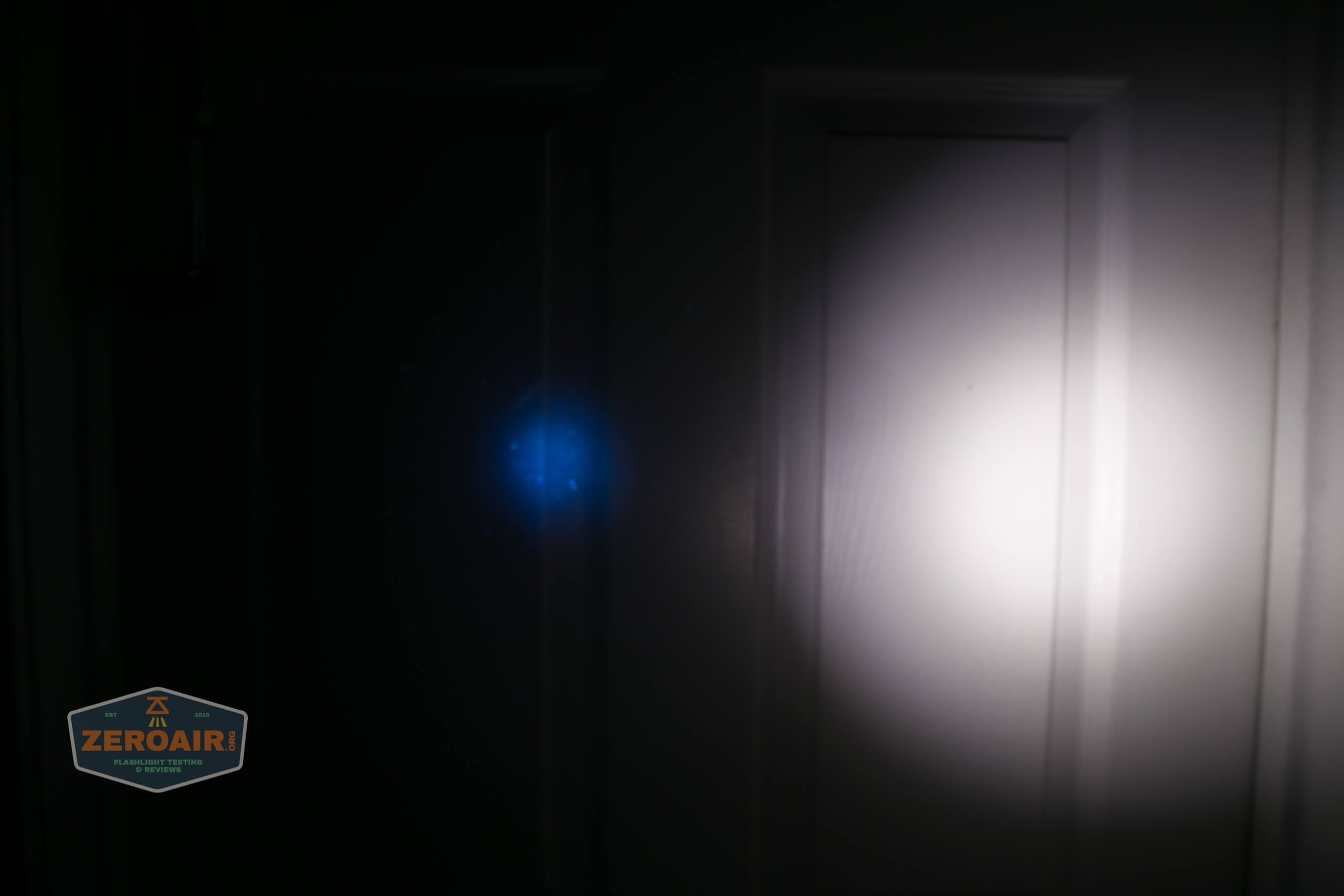 convoy s2+ uv flashlight beamshot dirty door