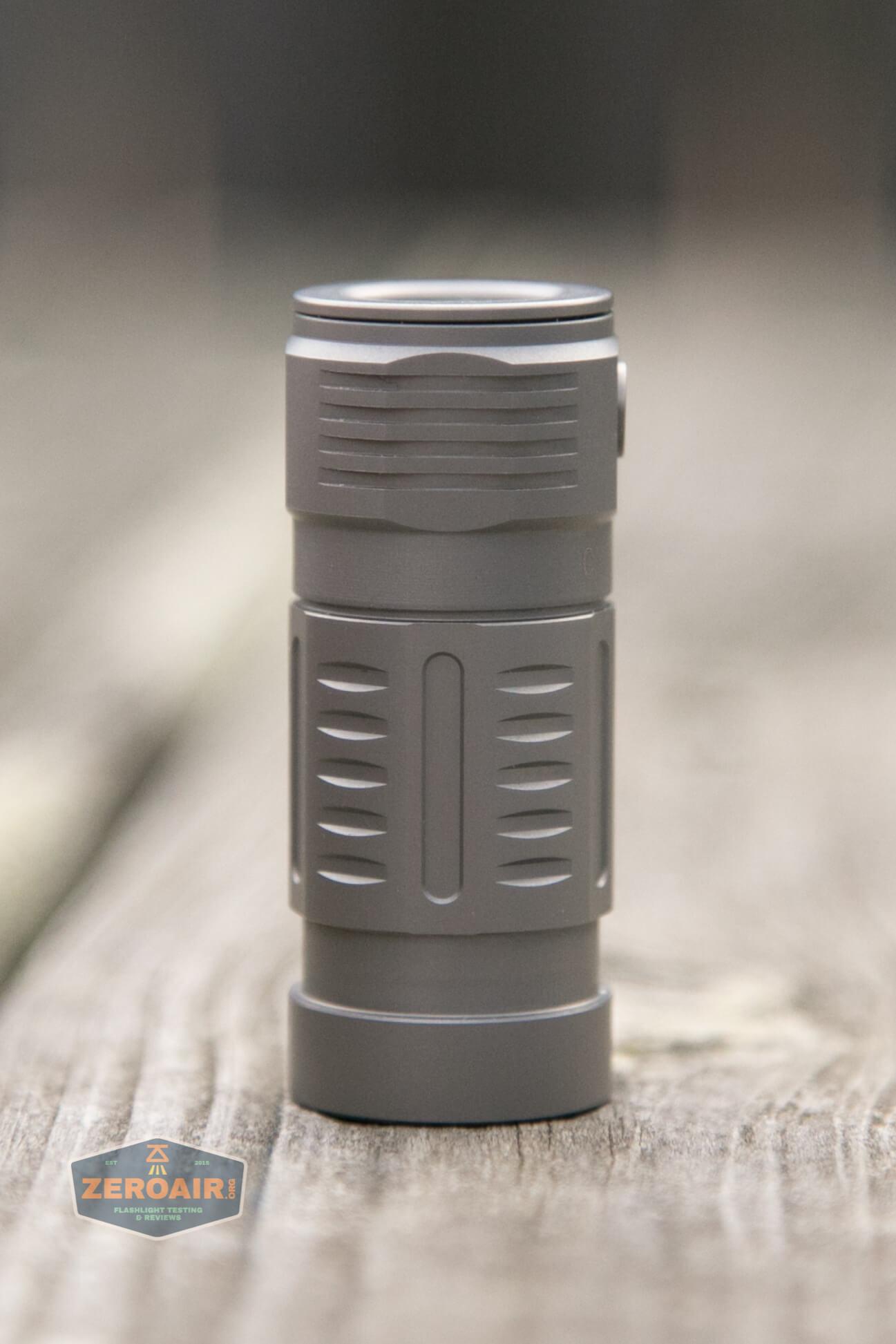 freasygears cyansky m3 titanium pocket flashlight all 4 sides