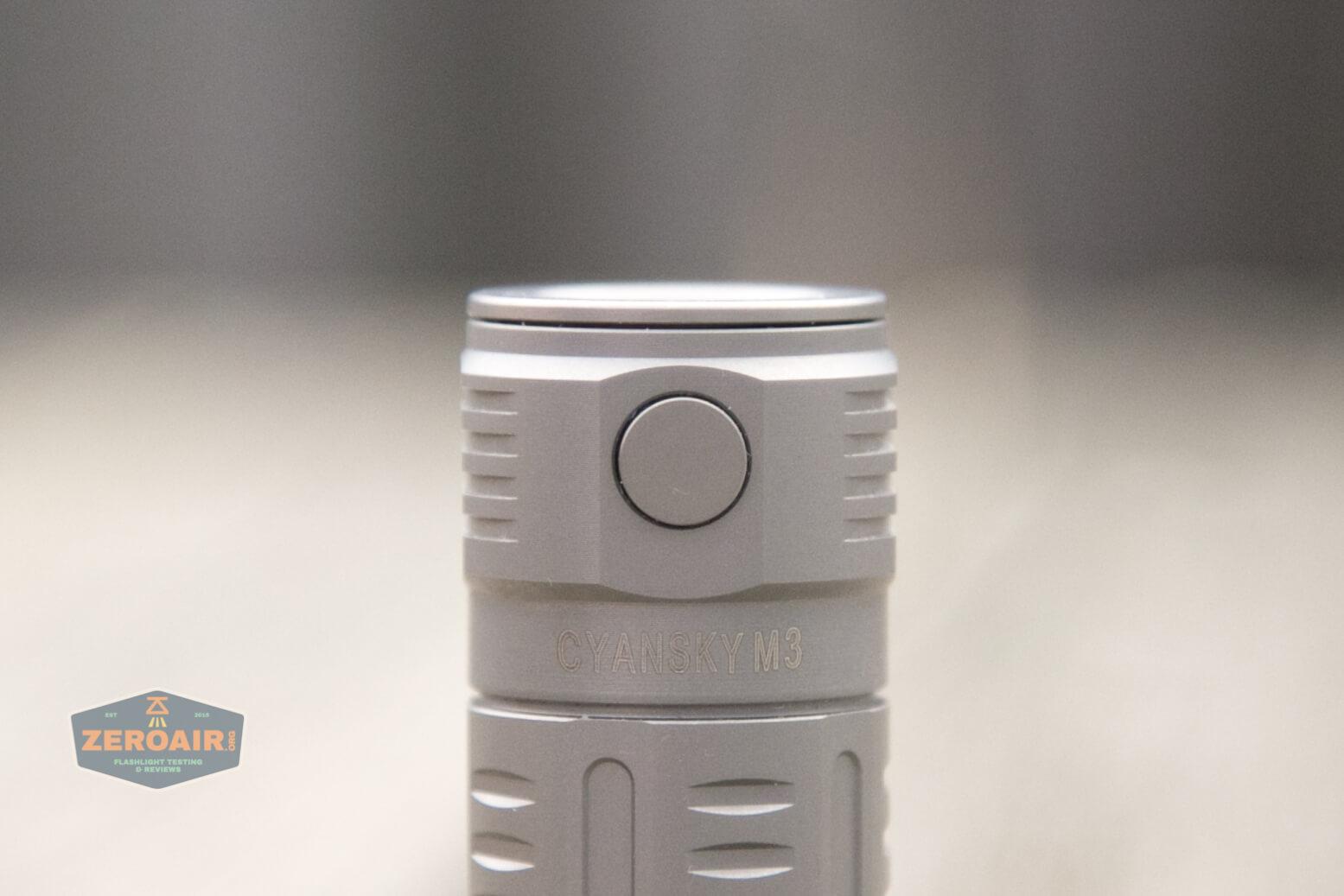 freasygears cyansky m3 titanium pocket flashlight metal switch