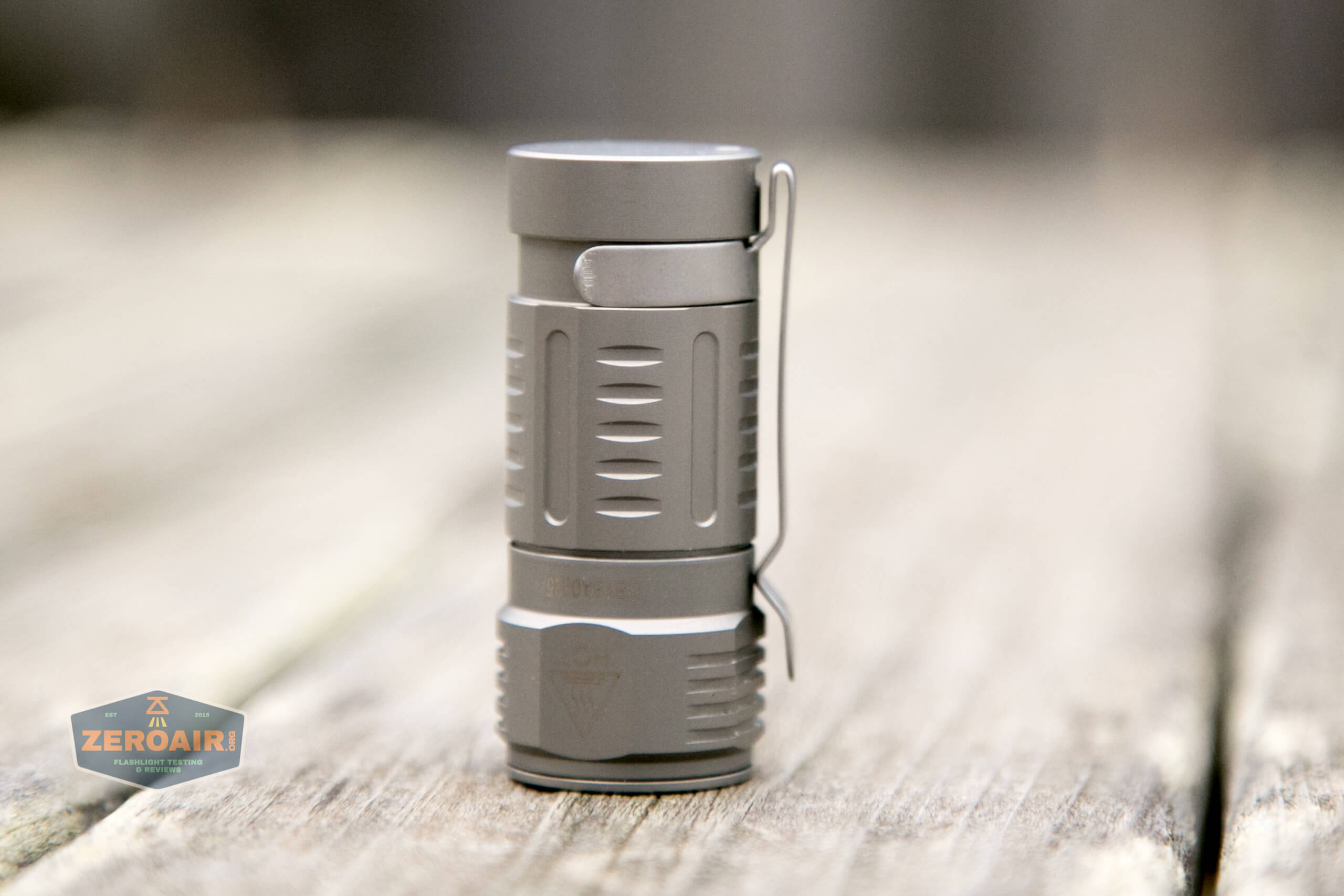 freasygears cyansky m3 titanium pocket flashlight pocket clip installed