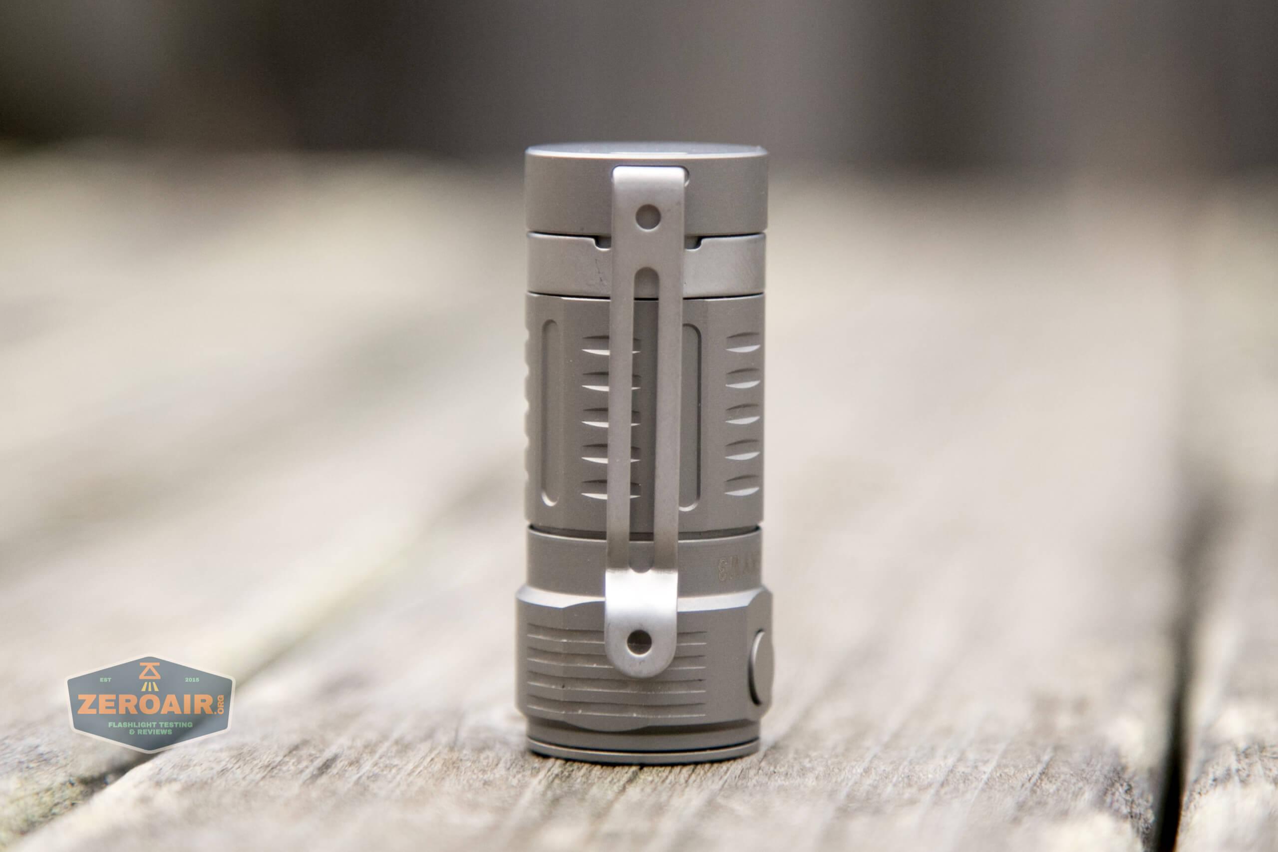 freasygears cyansky m3 titanium pocket flashlight pocket clip