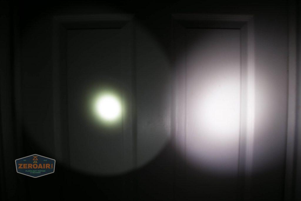 lumintop gt nano osram 10180 thrower beamshot door 2