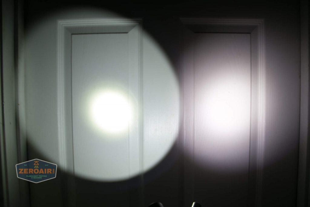 lumintop gt nano osram 10180 thrower beamshot door 3