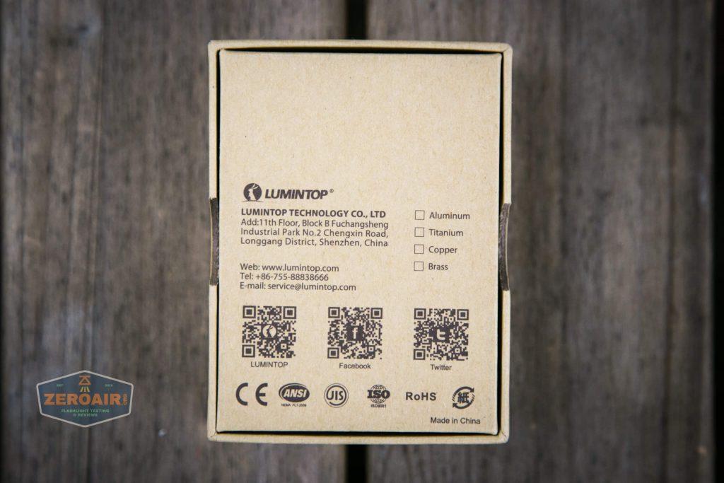 lumintop gt nano osram 10180 thrower box