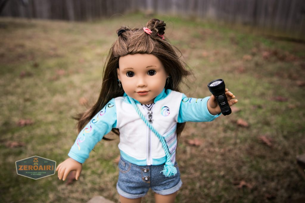 lumintop gt nano osram 10180 thrower with american girl doll