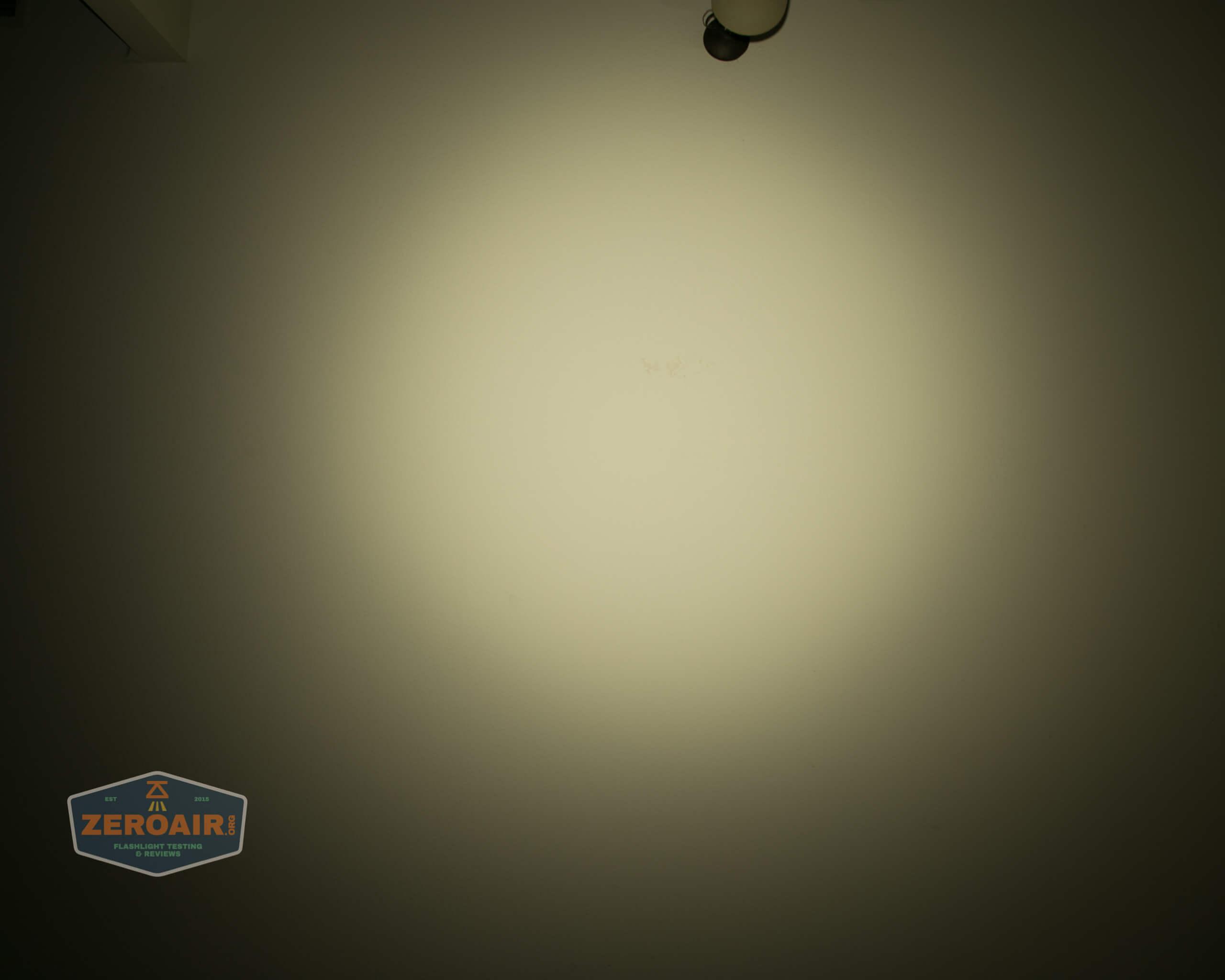 manker e14iii 18650 flood flashlight beamshot ceiling 8