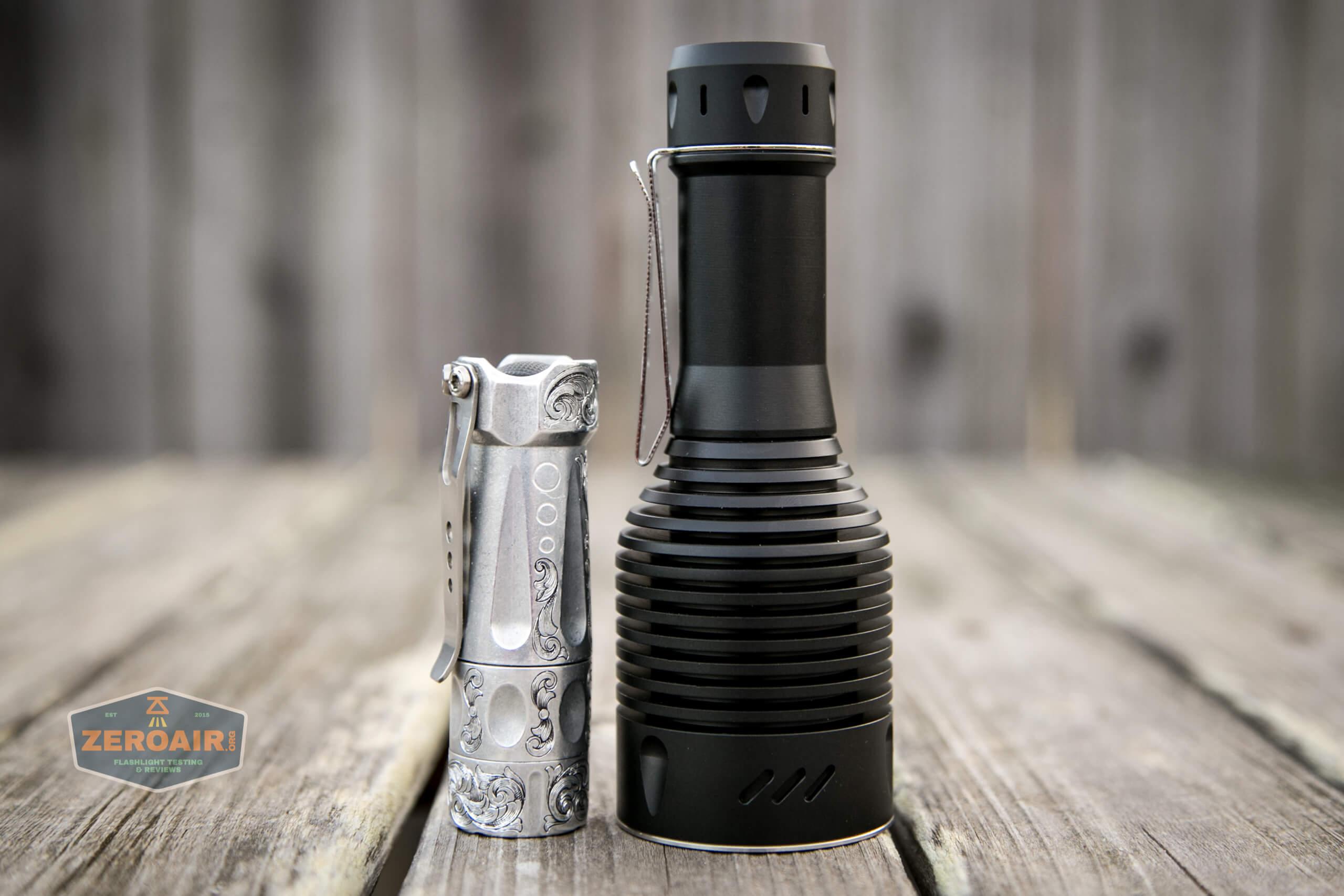 NlightD T90 luminus sbt-90.2 Andúril beside torchlab boss 35