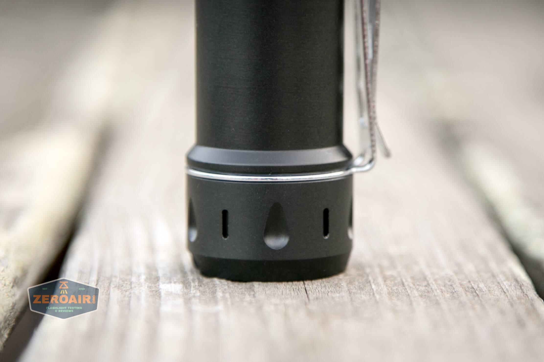 NlightD T90 luminus sbt-90.2 Andúril teardrop on tailcap and tritium