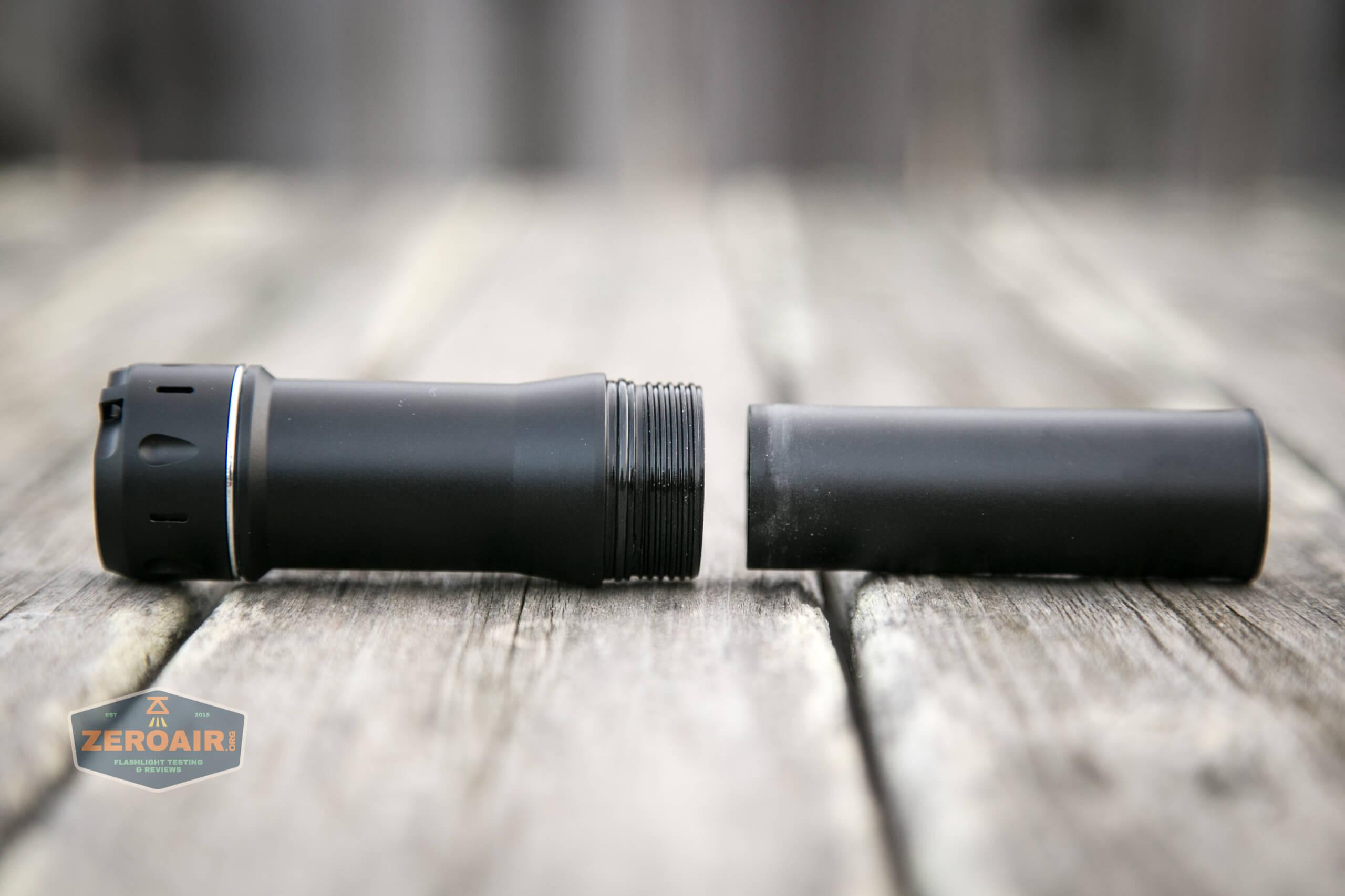NlightD T90 luminus sbt-90.2 Andúril inner sleeve removed