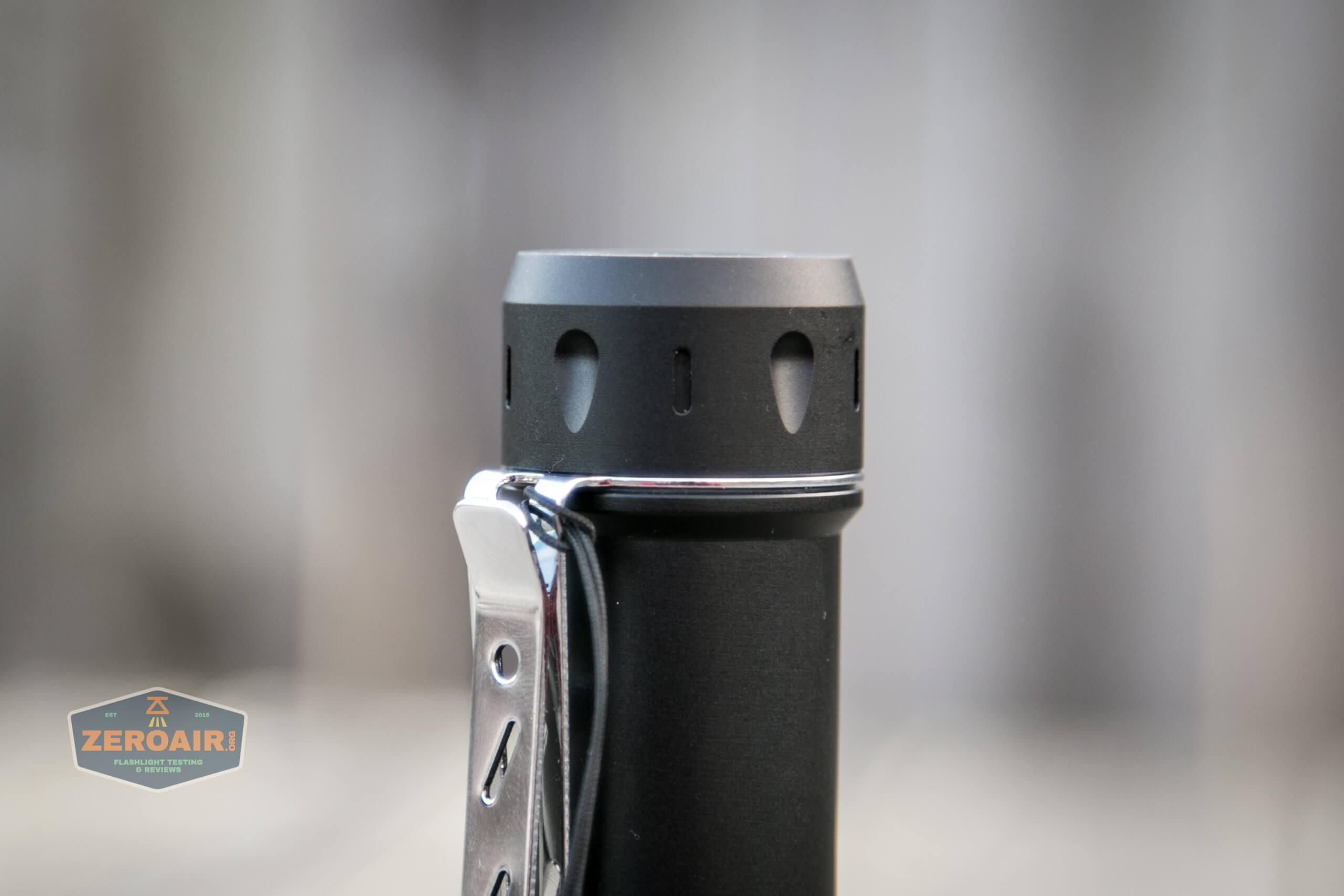 NlightD T90 luminus sbt-90.2 Andúril pocket clip lanyard installed